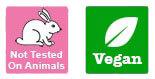 Not tested on animals & Vegan