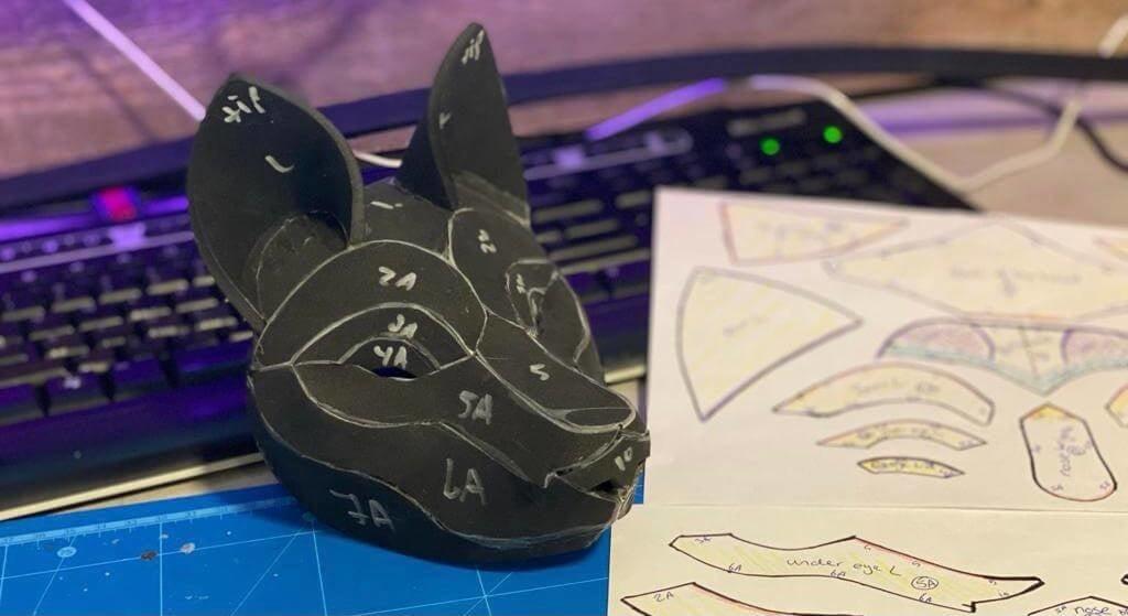 EVA foam Wolf Head Pattern