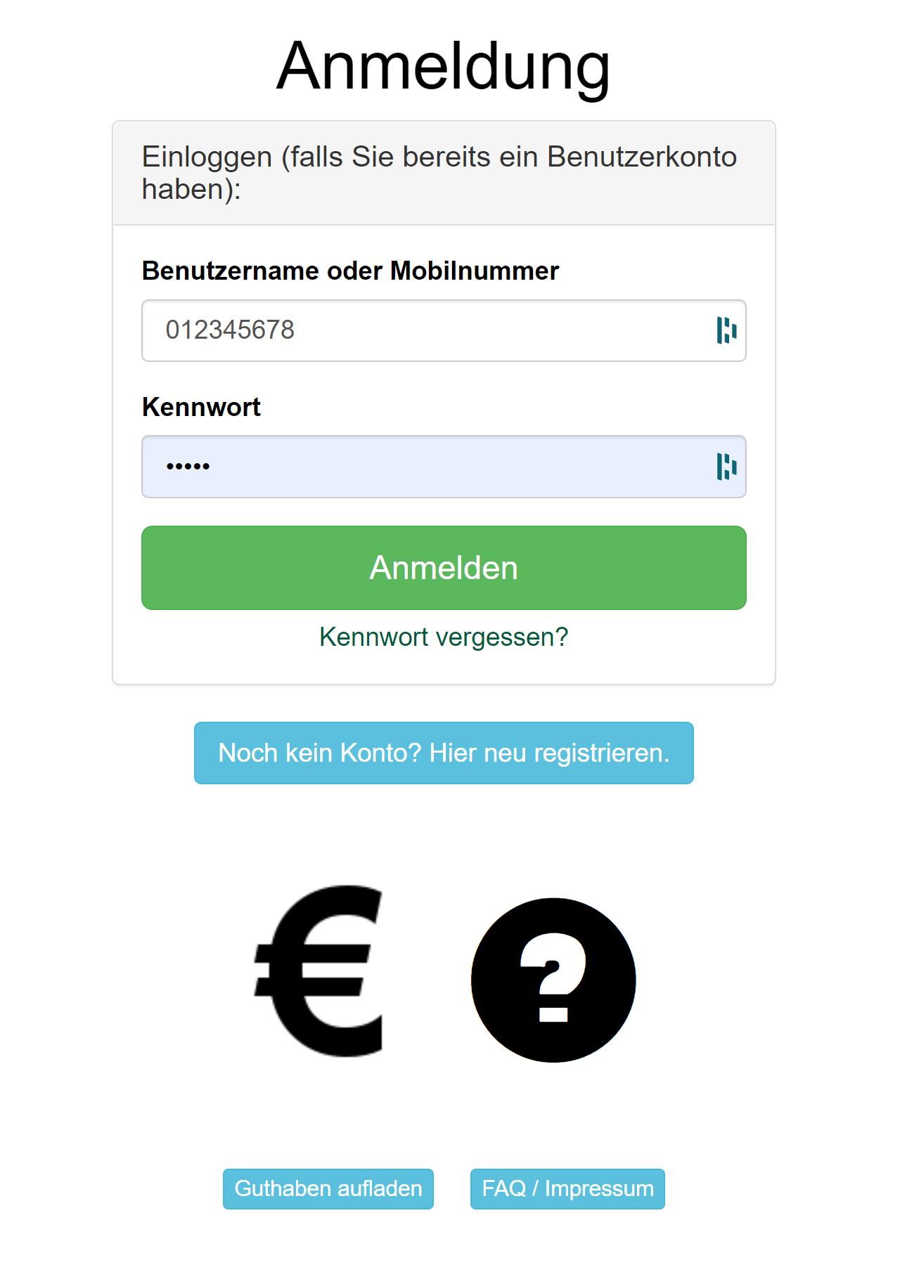 Login zur COMOTIX Online Melderverwaltung