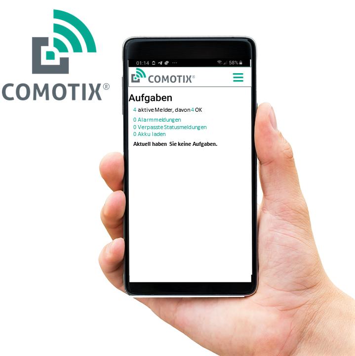 Online Verwaltung von Meldern COMOTIX® App