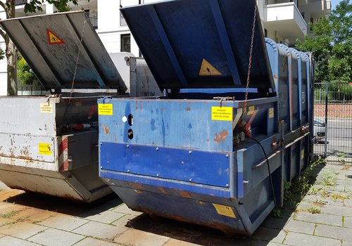 Füllstandsüberwachung mobile Müllpressen