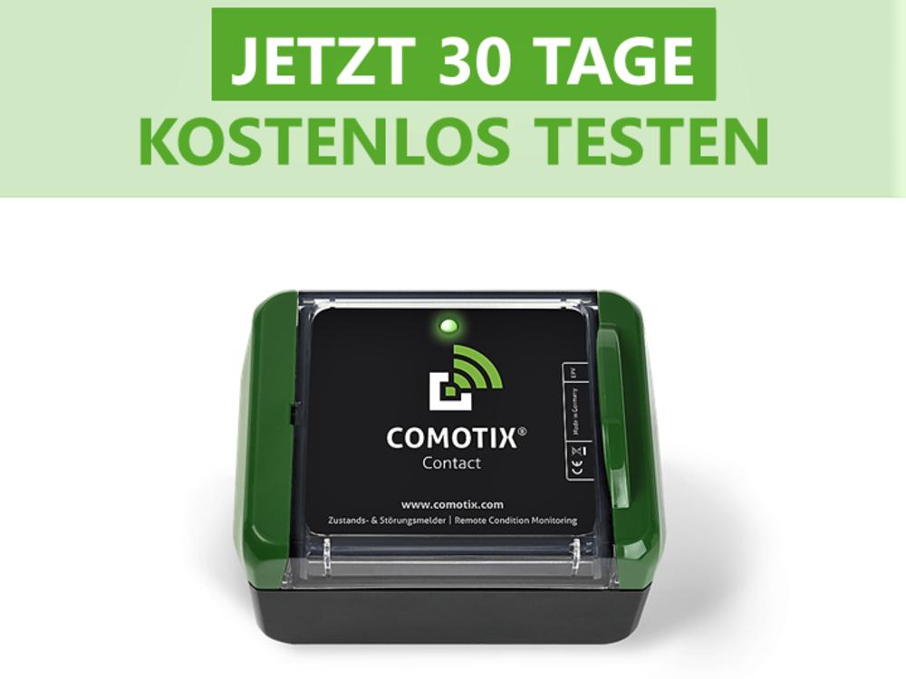 Testen Sie die Kontaktüberwachung von COMOTIX®  30 Tage kostenlos (gültig nur innerhalb Deutschlands)!