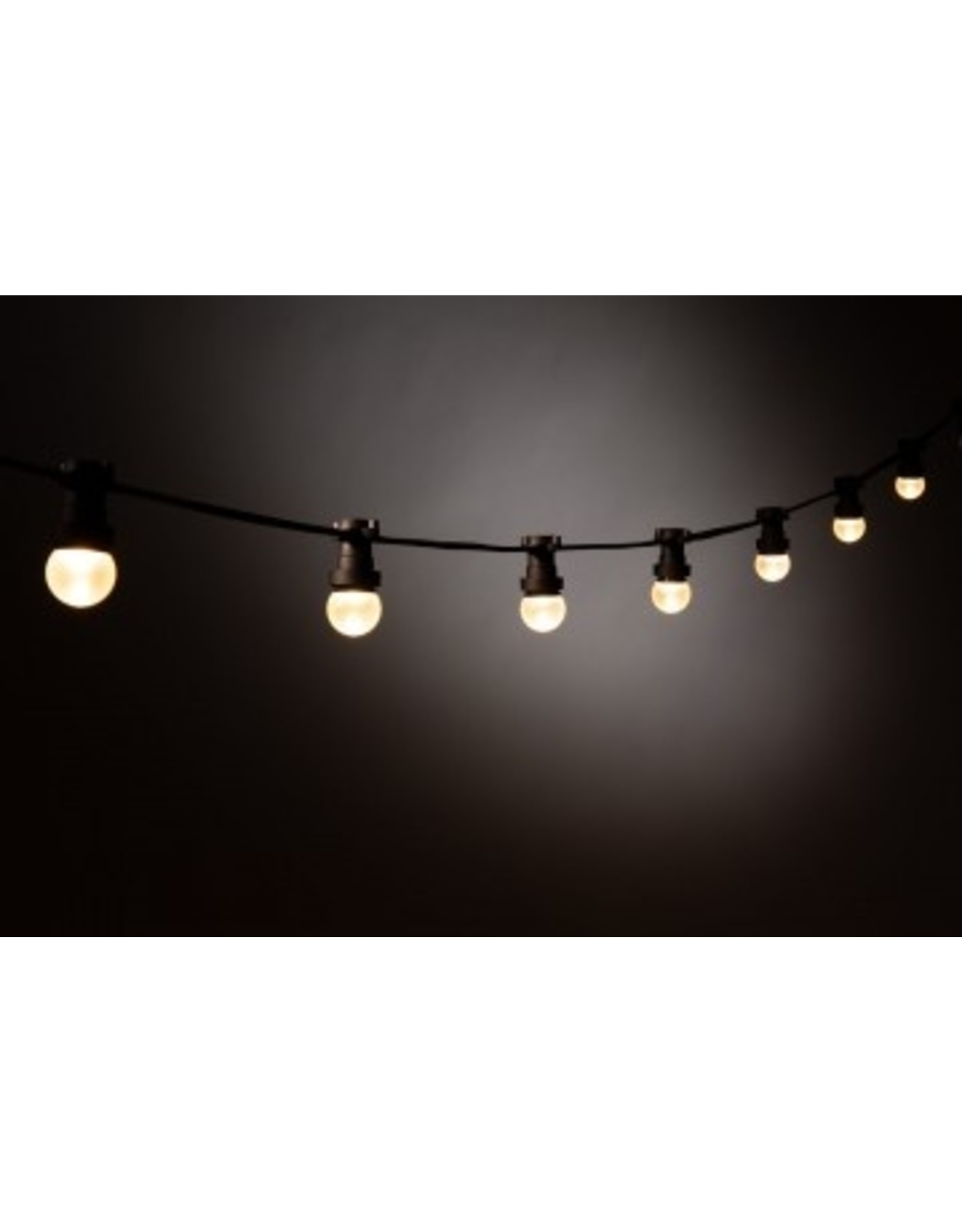 Lights guirlande Lichtslinger outdoor, 20m met 40 fittingen, zwarte kabel + startkabel