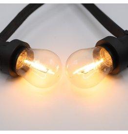 Lights guirlande Warm witte filament lampen - 3,5 Watt 2650K (gloeilamp)