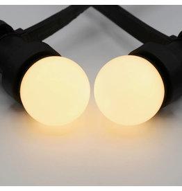 Lights guirlande Warm witte LED lampen met melkkap - 1 watt, 2000K (kaarslicht)