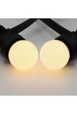 Lights guirlande Warm witte LED lampen met melkkap - 1 watt, 2650K (gloeilamp)