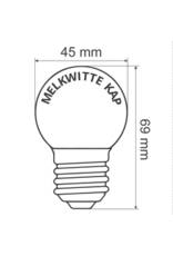 Lights guirlande Warm witte LED lampen met melkkap - 1 watt, 3300K (neutraal)