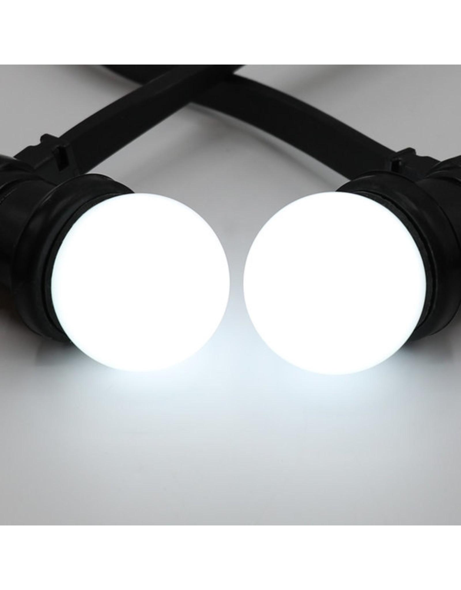 Lights guirlande Warm witte LED lampen met melkkap - 1 watt, 6600K (koud wit)
