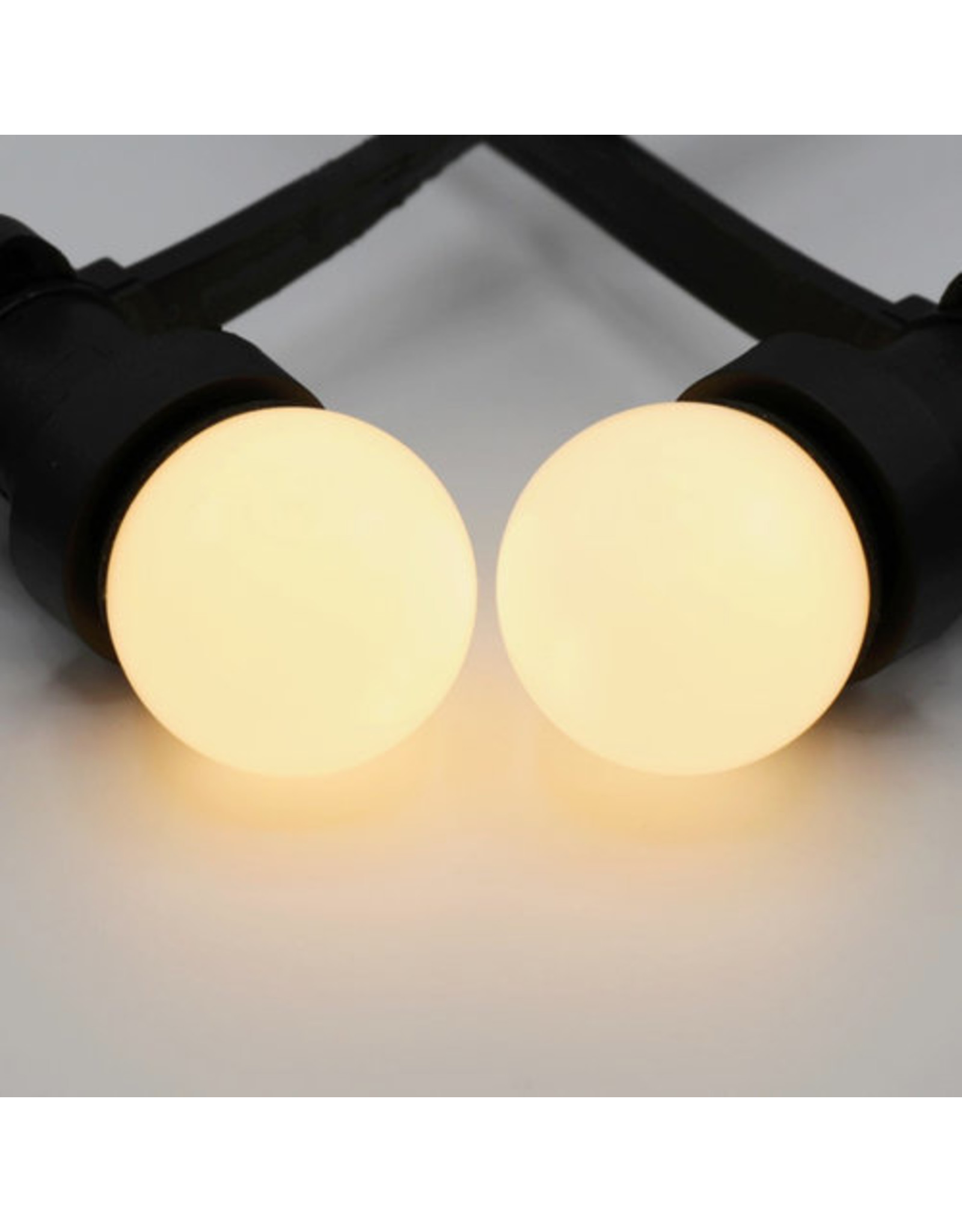Lights guirlande Warm witte LED lampen met melkkap - 1,5 watt, 2650K (gloeilamp)
