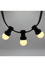 Lights guirlande Warm witte LED lampen met melkkap - 2 watt, 2650K (gloeilamp)