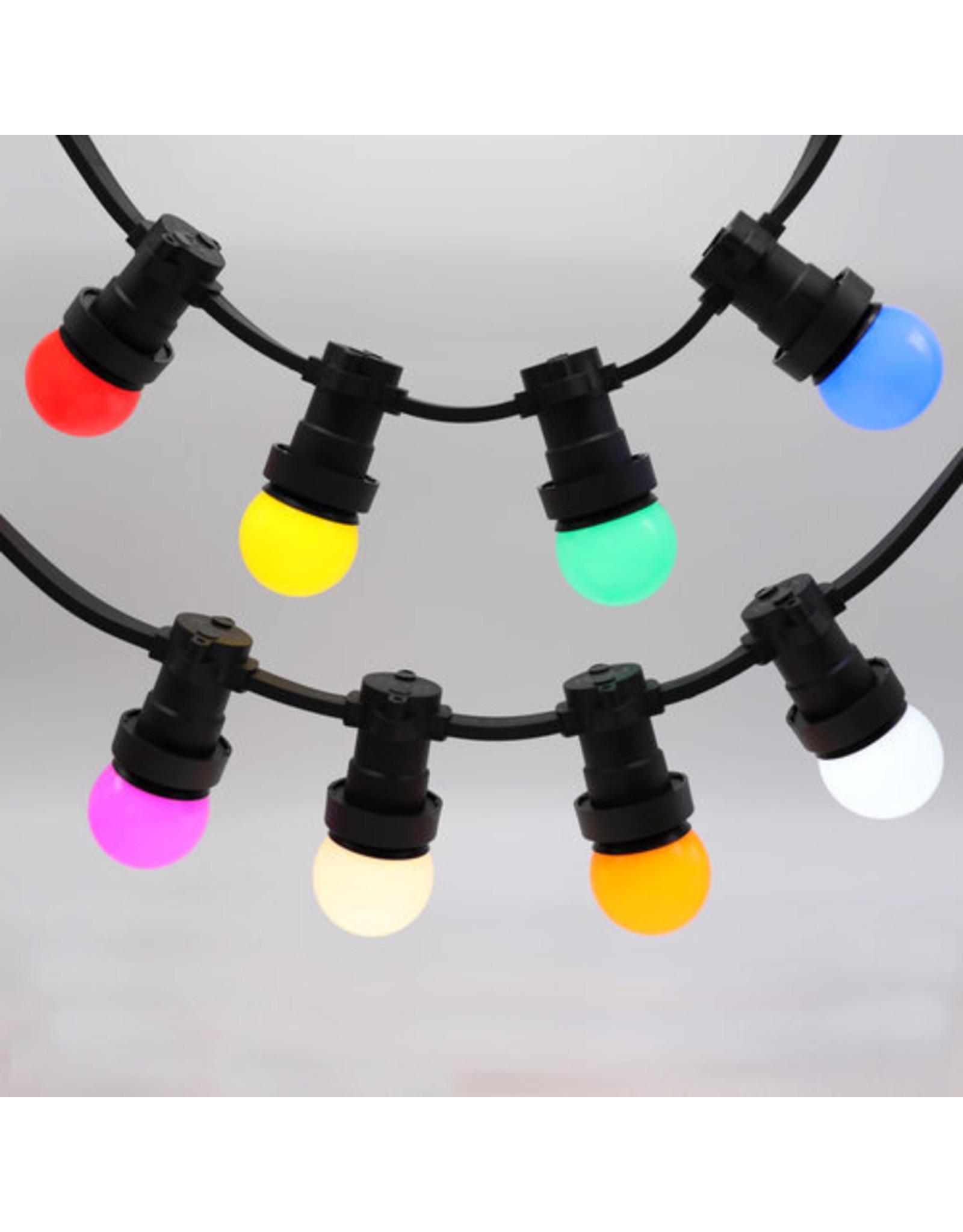 Lights guirlande 8 kleuren gemixte LED lampen - 1 watt