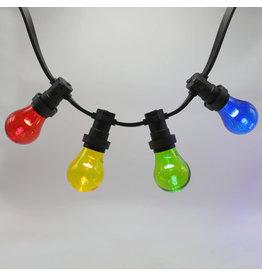 Lights guirlande 4 kleuren gemixte LED lampen met grote kap - 1 watt