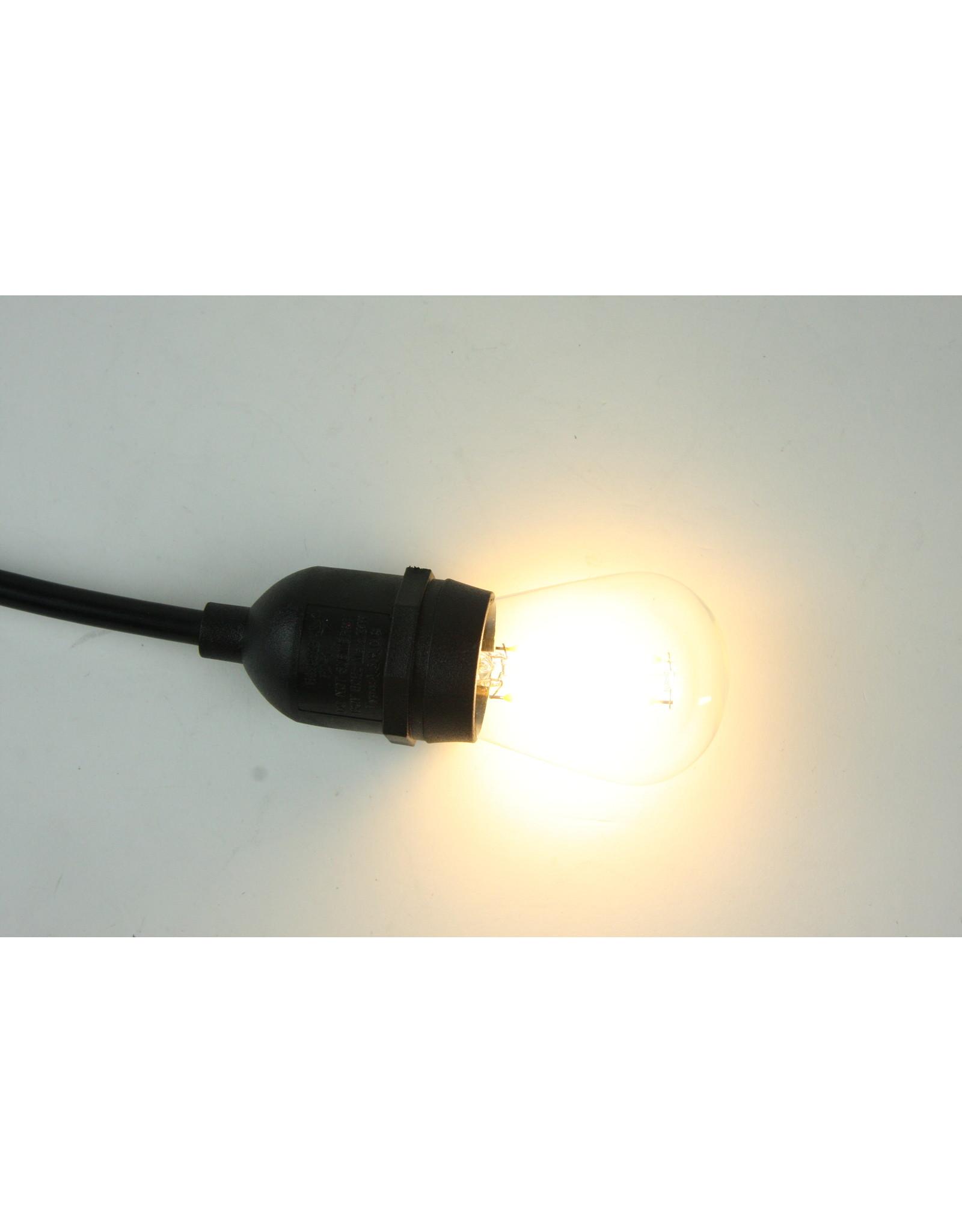 Lights Led filament lamp e27, s14 model, 2w, warm white, 2700k, unbreakable plastic