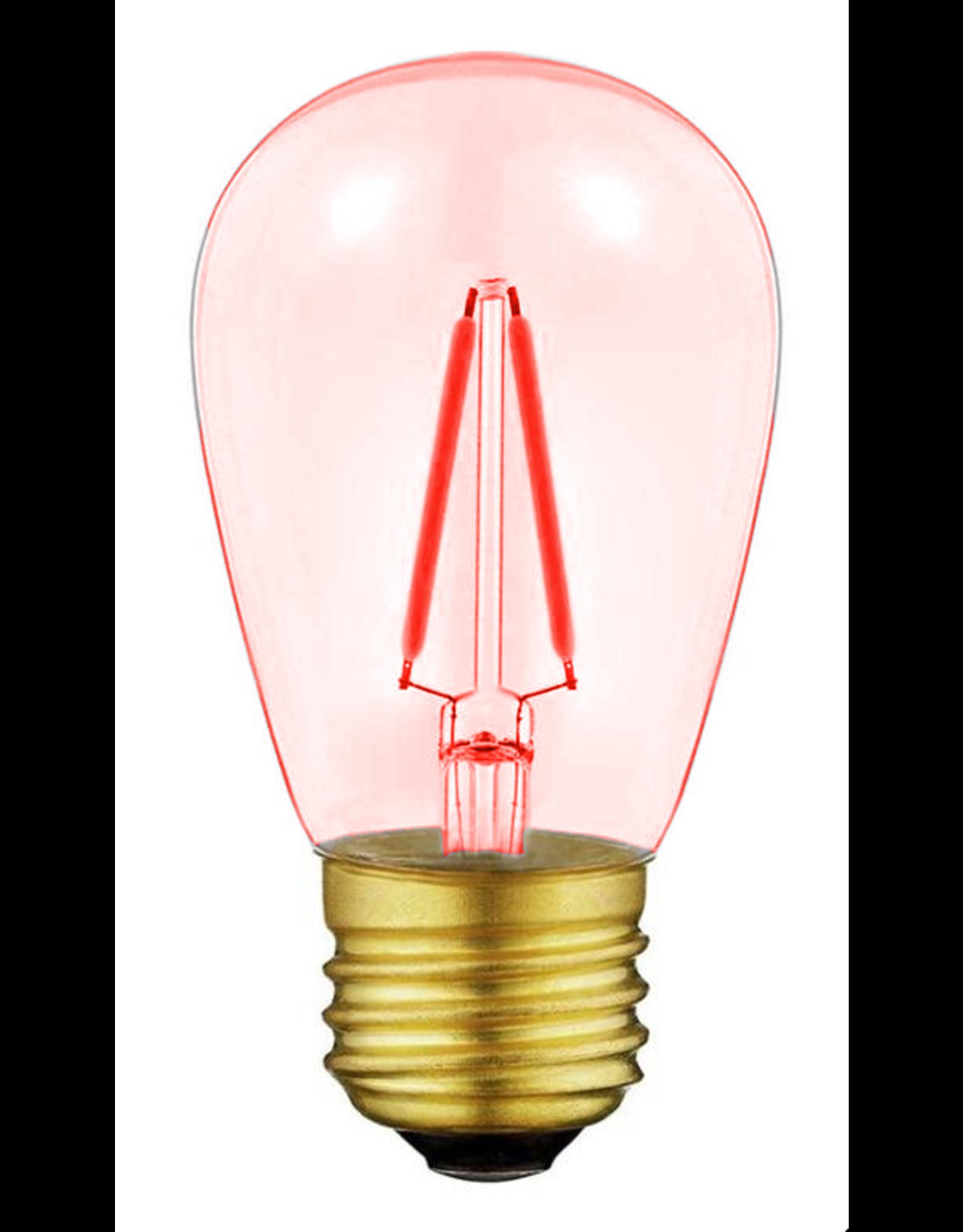 Lights Led filament lamp e27, s14 model, 2w, yellow