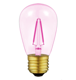 Lights Led filament lamp e27, s14 model, 2w, pink