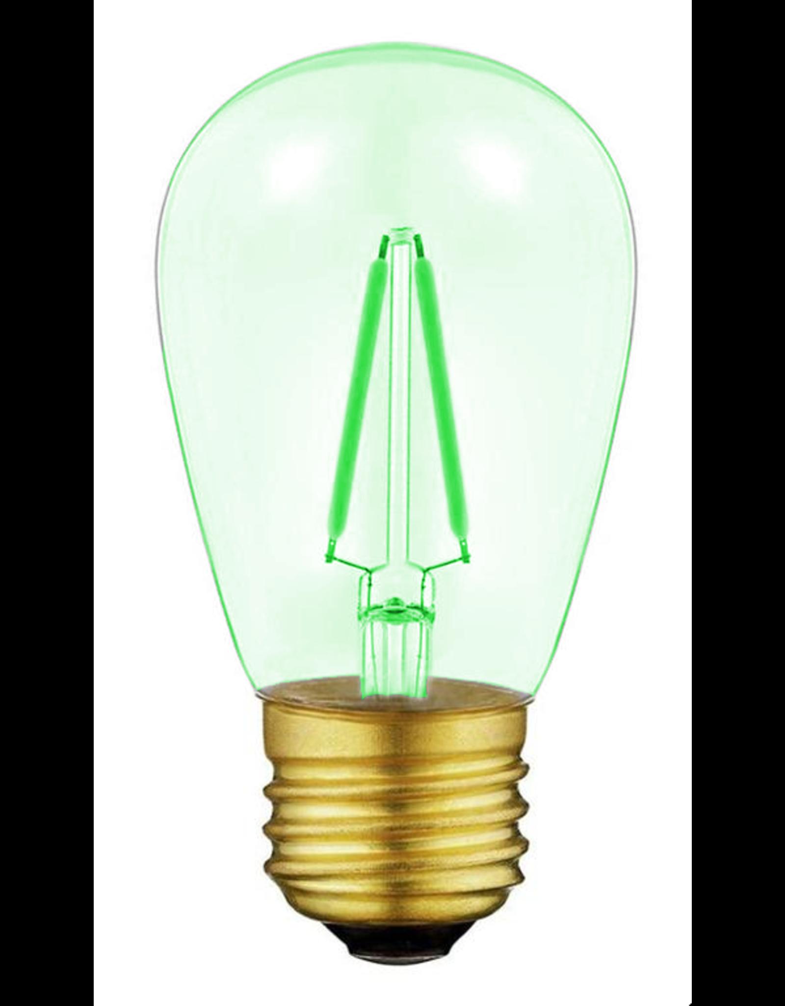 Lights Led filament lamp e27, s14 model, 2w, green