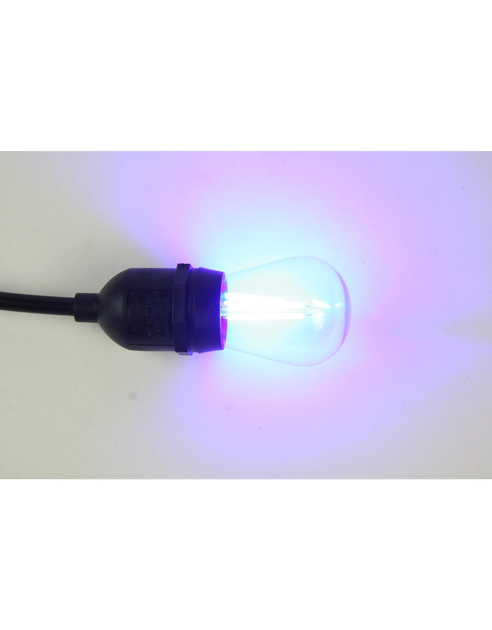 Lights Led filament lamp e27, s14 model, 2w, vlue