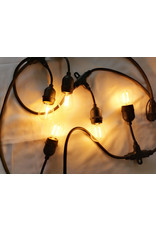 Lights Lichtslinger black flatcable with french plug, 25m and 25 sockets e27 mounted, with