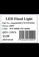 Lights Ekspoled200 - 200w flood light led - Cold White/Warm White - 120° - DMX
