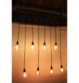 Lights E27 bar 100 cm with 8*E27 Socket, with Powercon in/out