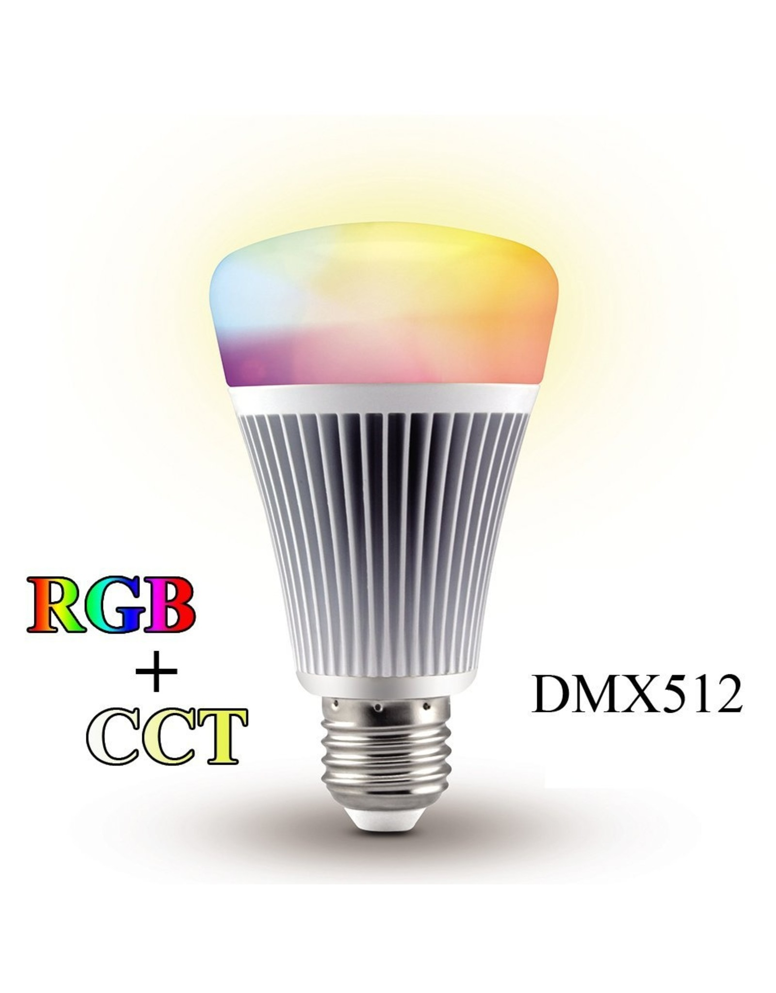 Lights Wireless dmx rgb+cct led lamp - 240v - E27 - angle 220° - 850Lm