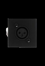 Audac Wall mic input - 45x45mm - RJ45 Black version