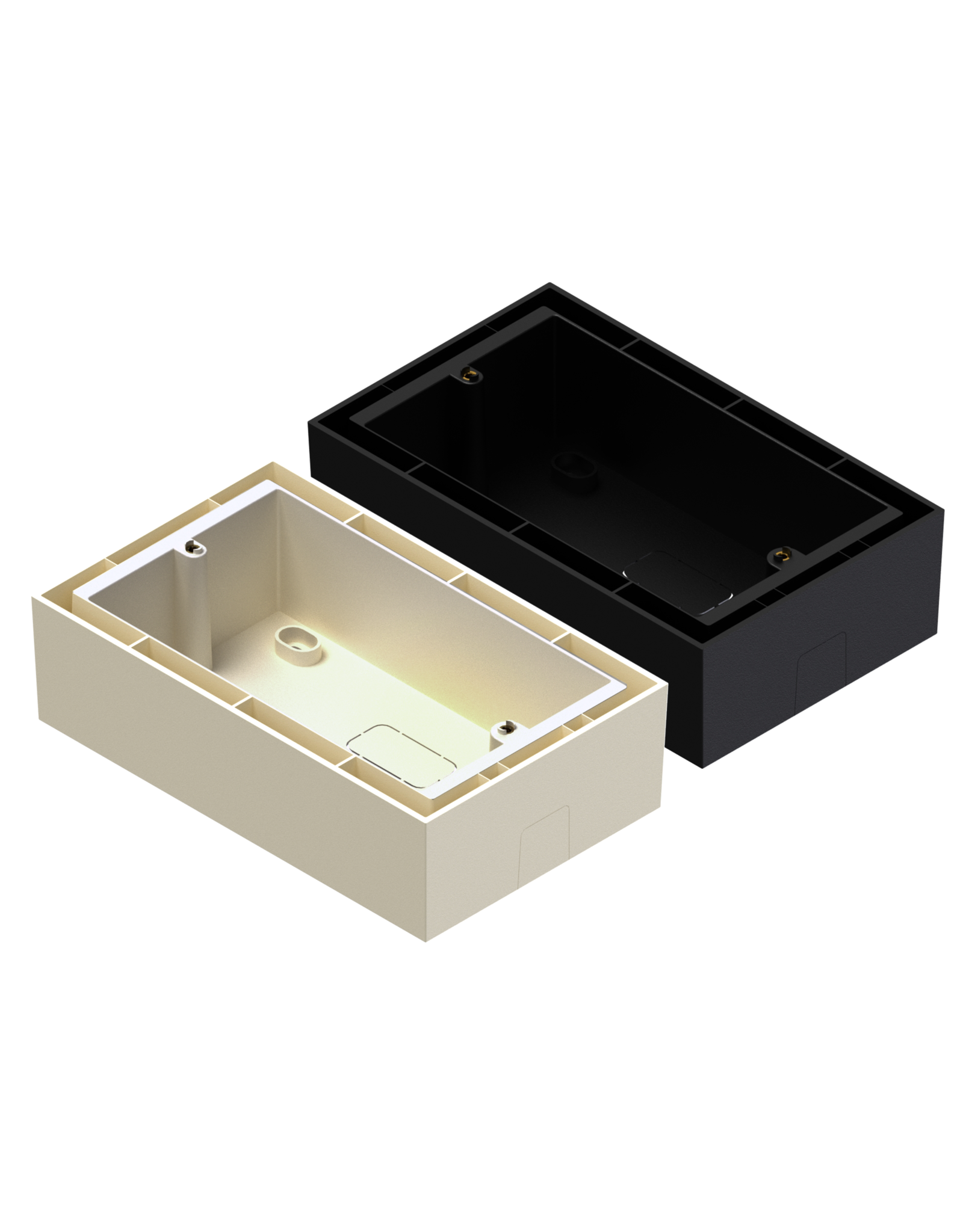 Audac Wall box for DW5065/WP523/MWX65 Surface mount box for audac wallpanel - black