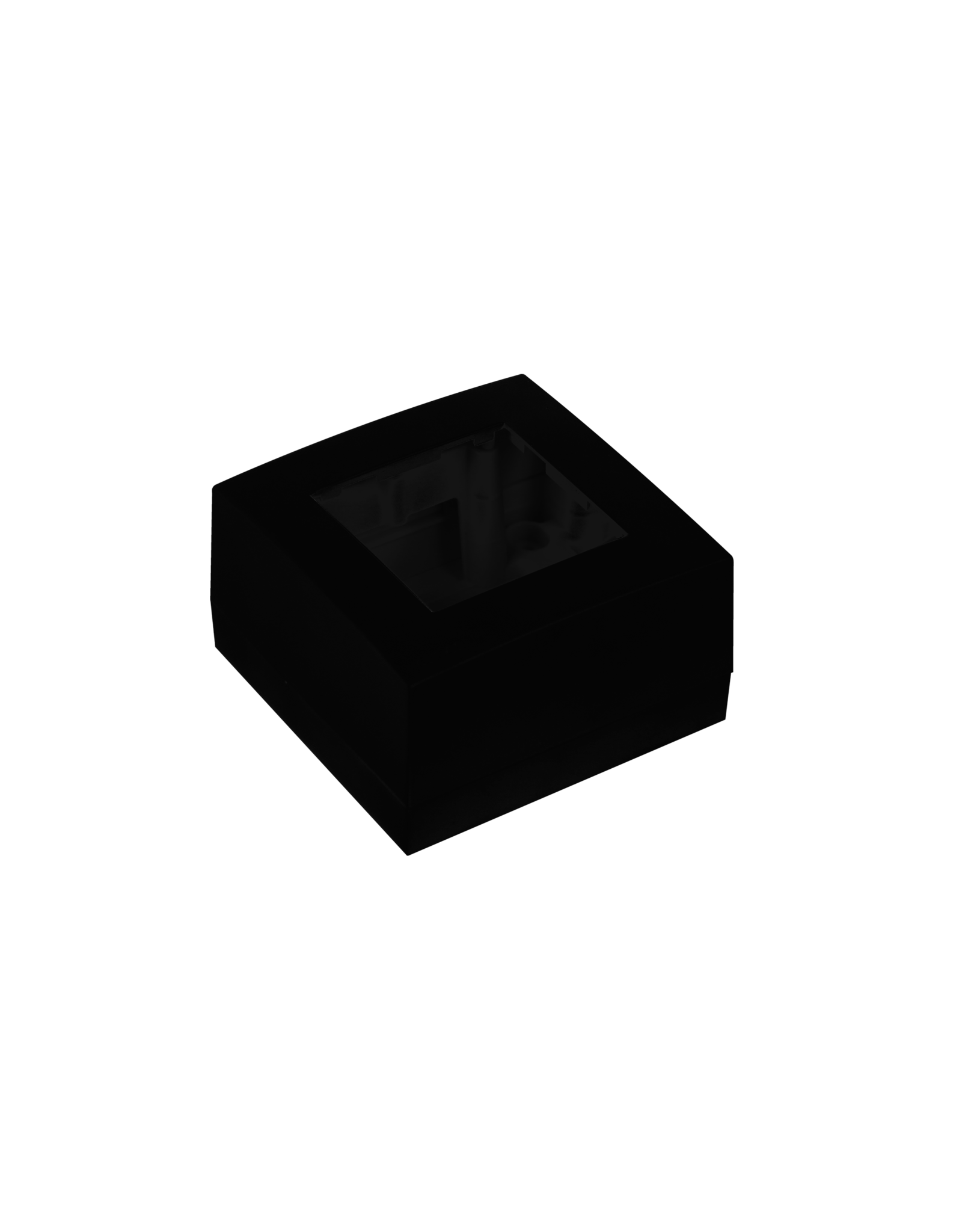 Audac Surface mount box single 45 x 45 mm Black version