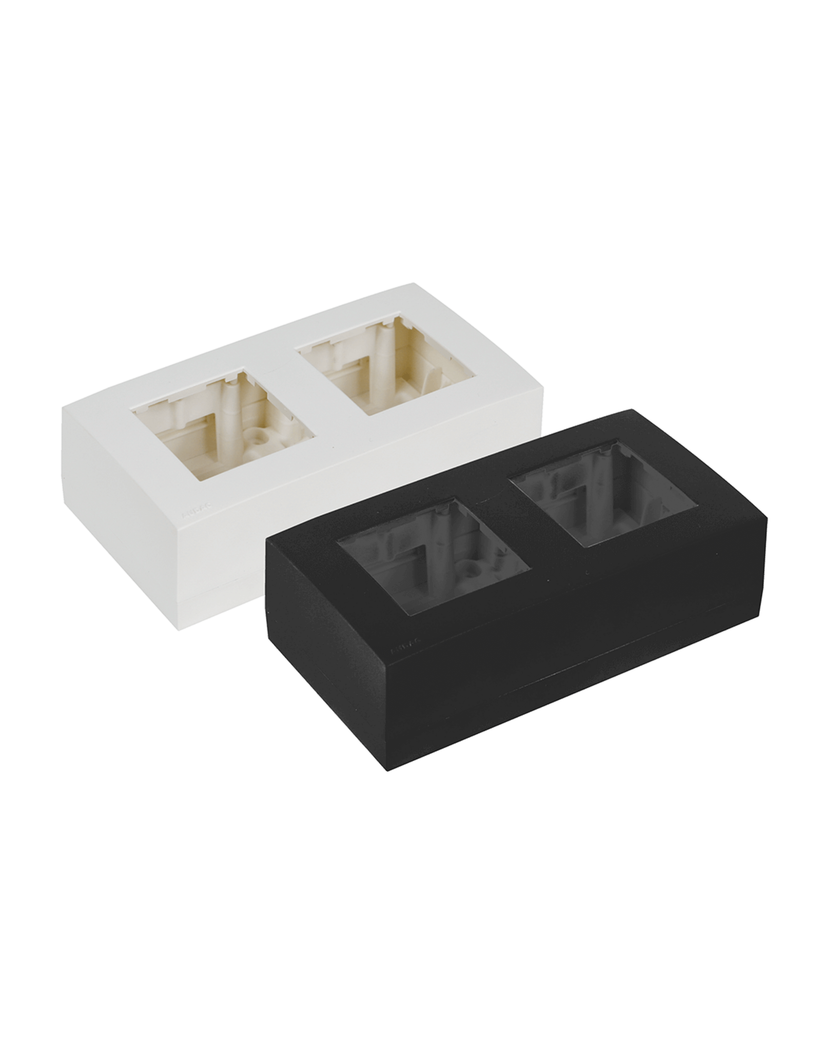 Audac Surface mount box double 45 x 45 mm White version