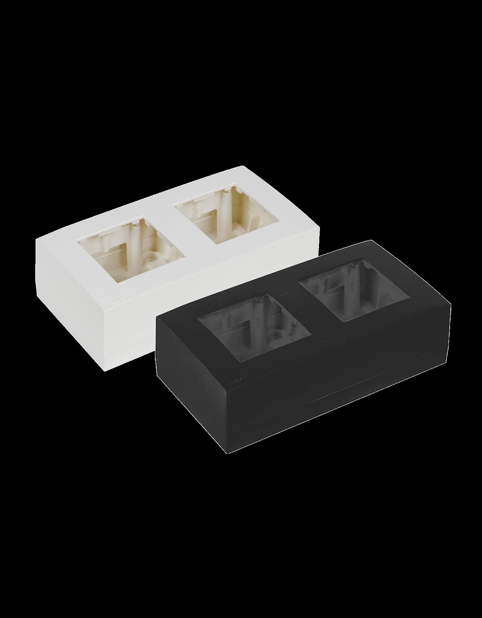 Audac Surface mount box double 45 x 45 mm Black version
