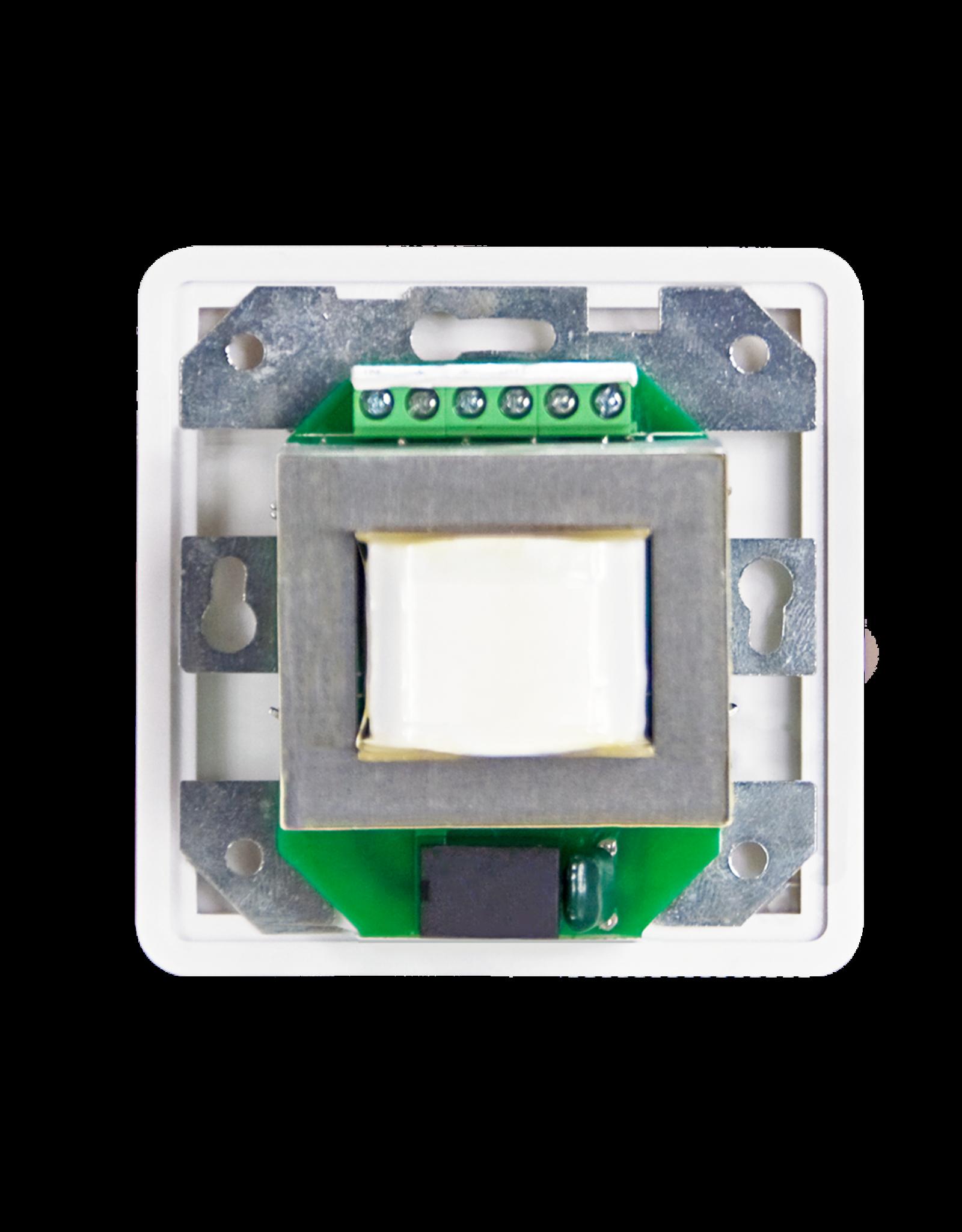 Audac 100V volume controller 60W 80 x 80 mm White version