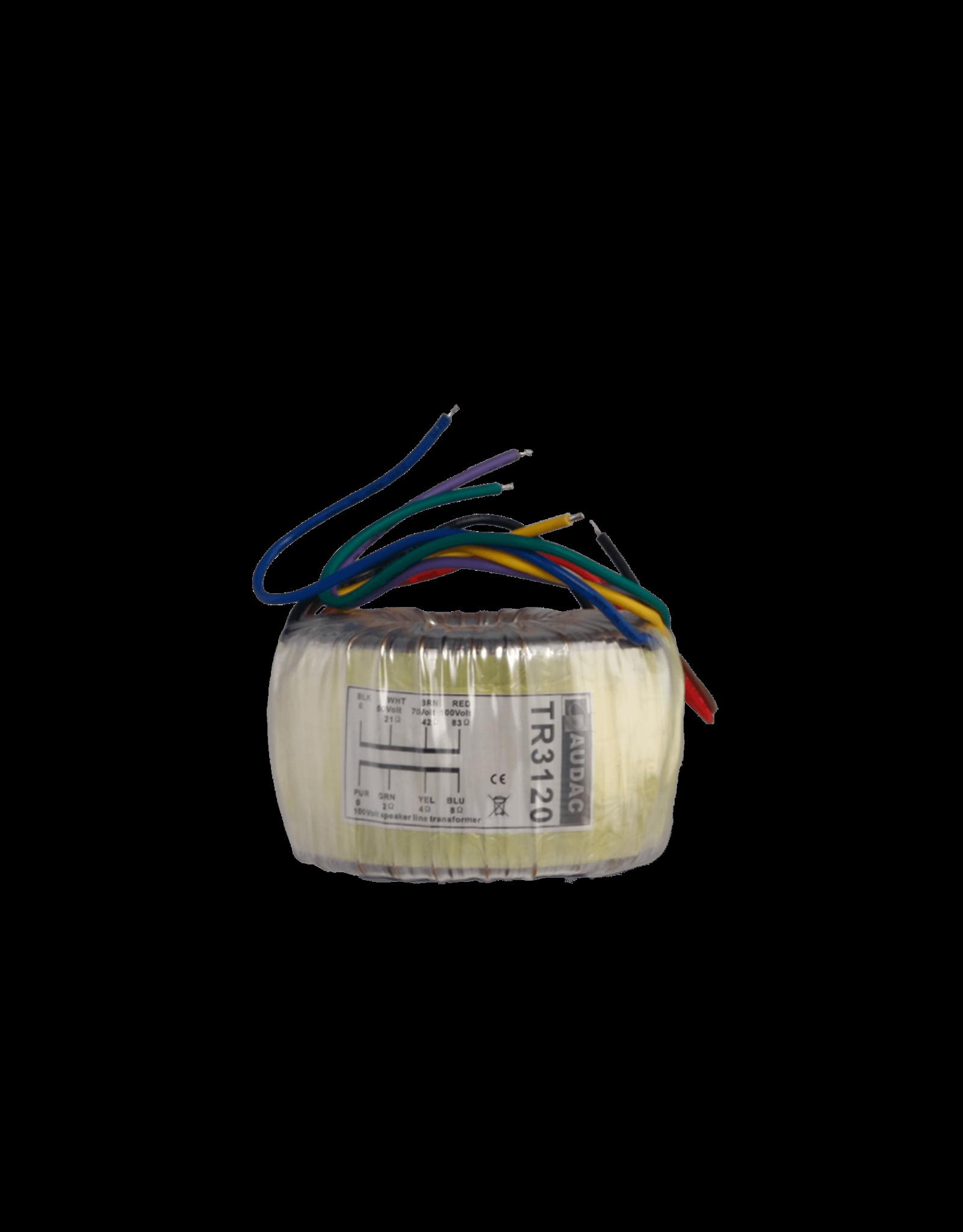 Audac Toroidal audio line transformer 120W 100V
