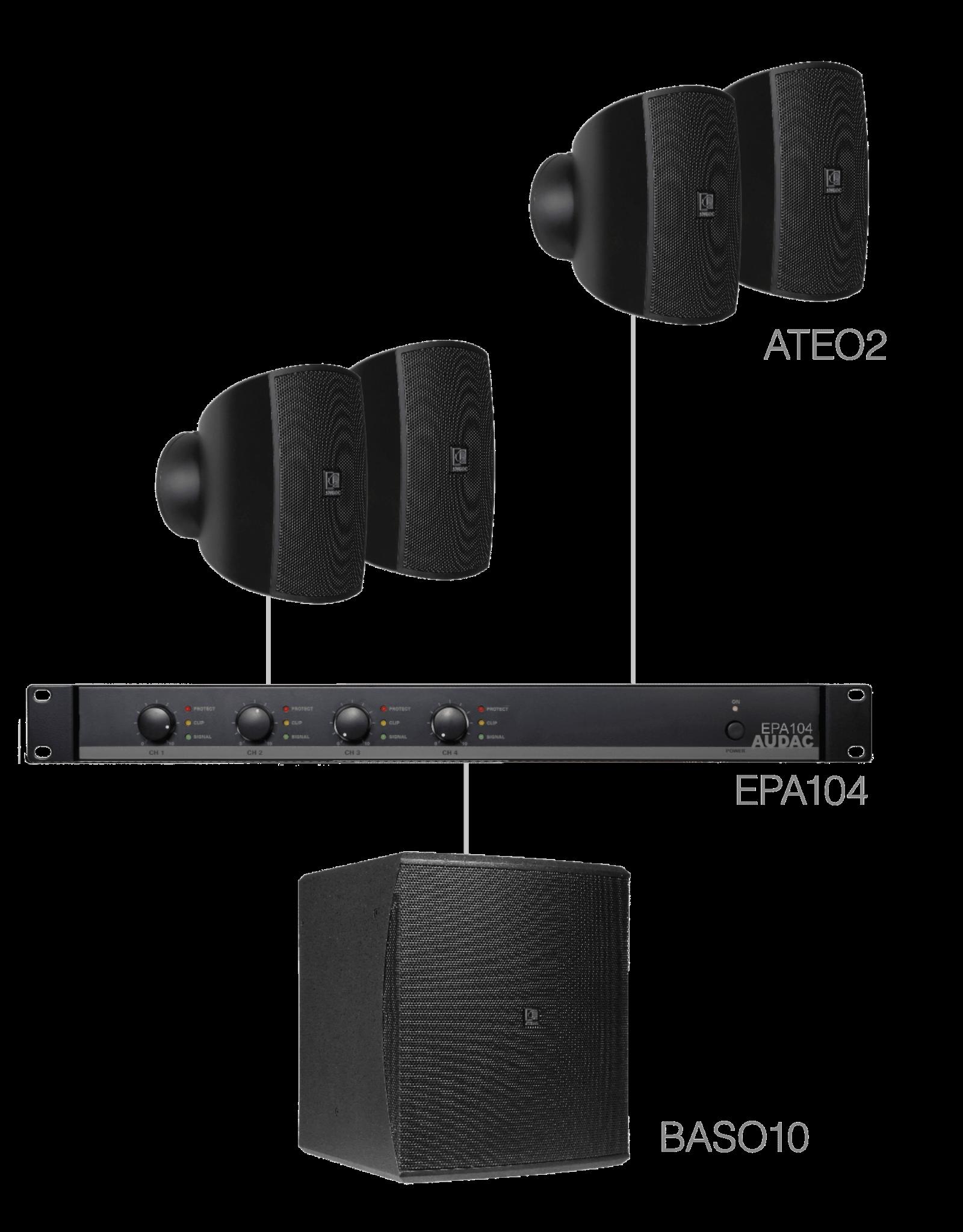 Audac 4 x ATEO2 + BASO10 + EPA104 Black