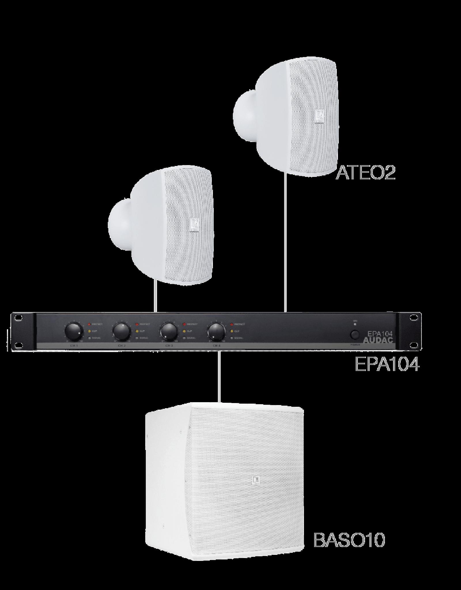 Audac 2 x ATEO2 + BASO10 + EPA104 White