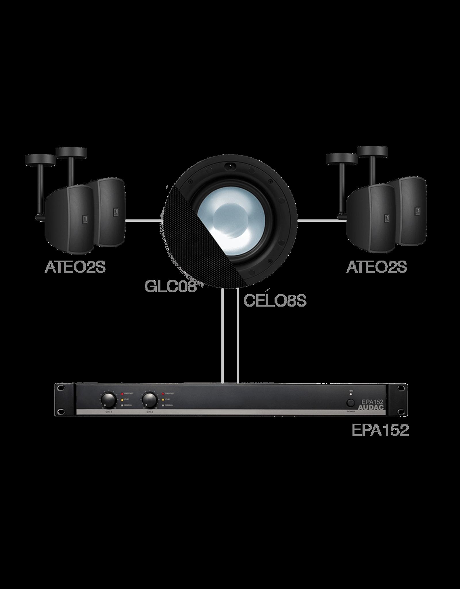 Audac 4 x ATEO2S + CELO8S + EPA152 Black