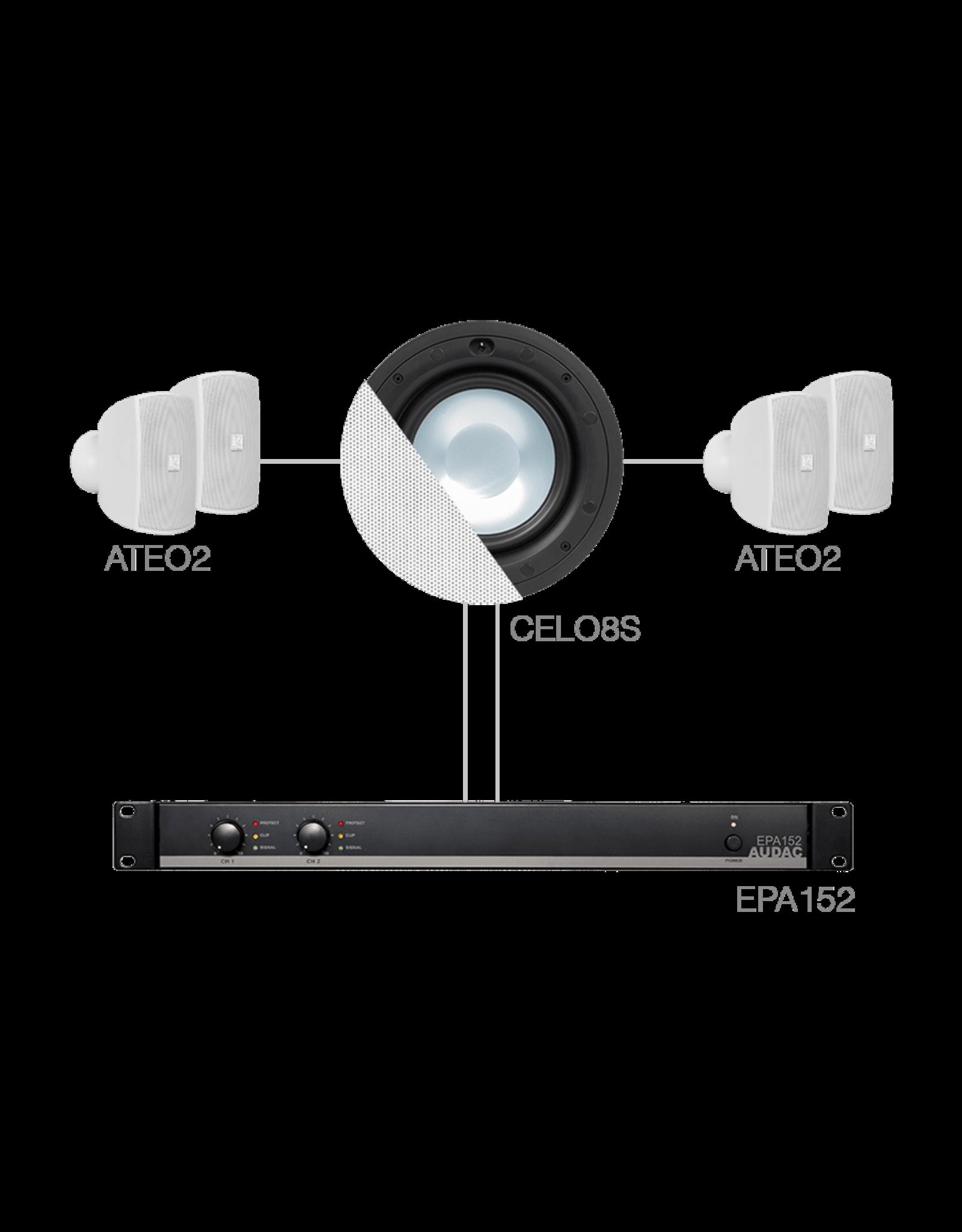 Audac 4 x ATEO2 + CELO8S + EPA152 White