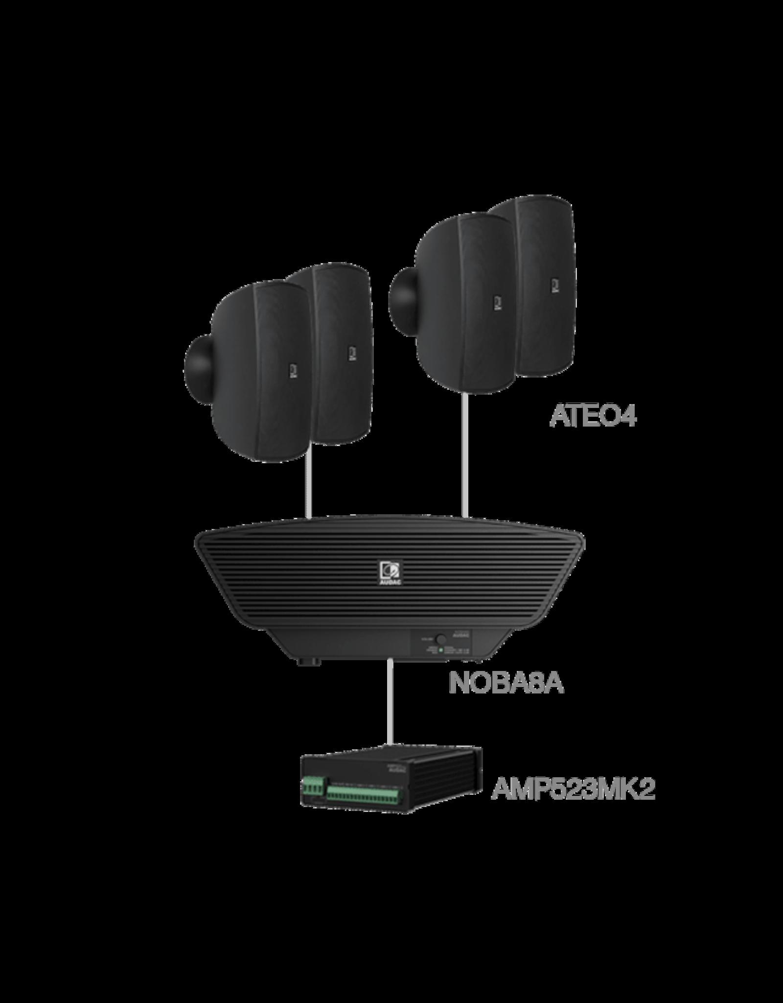 Audac 4x ATEO4  + NOBA8A +AMP523MK2 Black