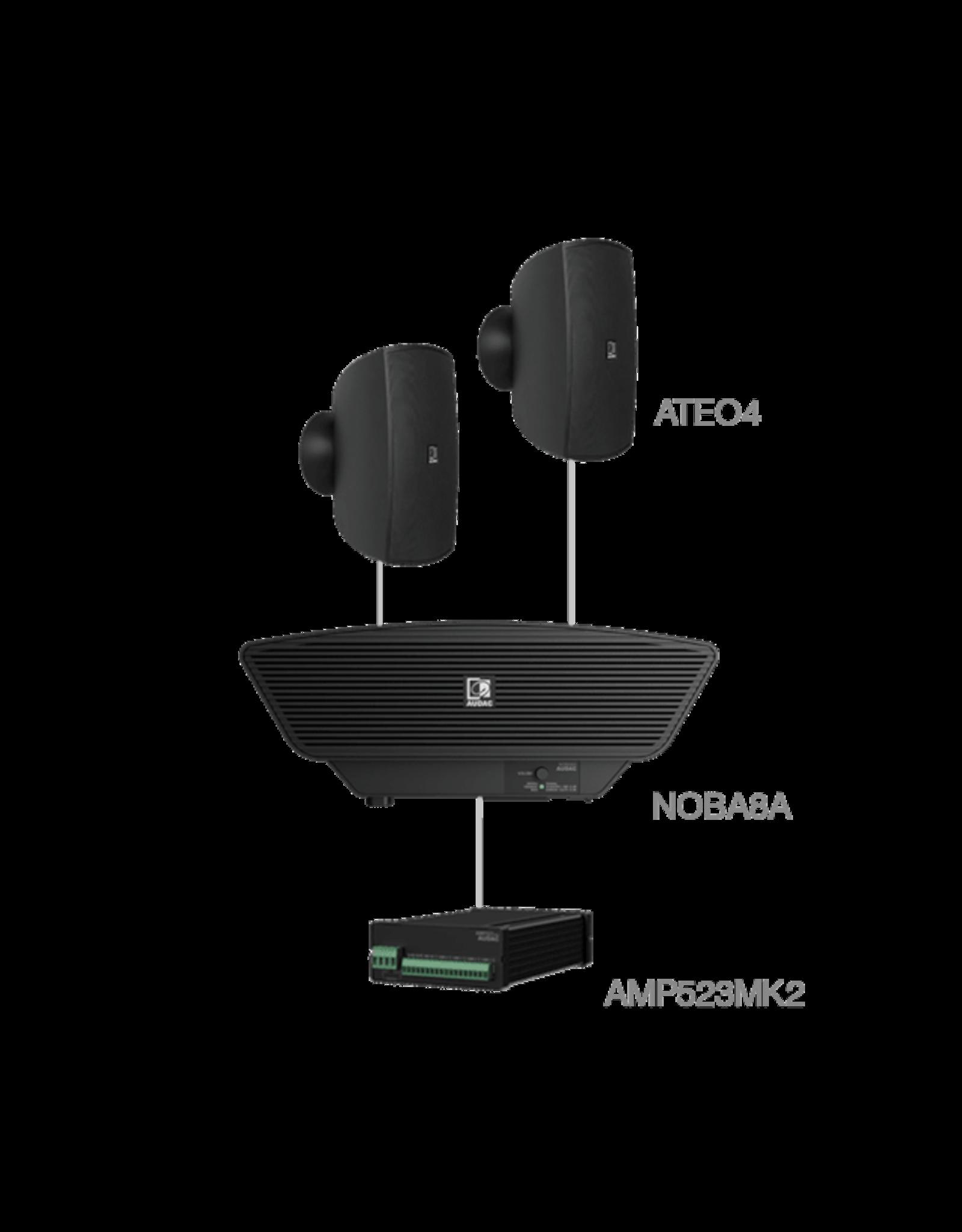 Audac 2 x ATEO4 + NOBA8A + AMP523MK2 Black