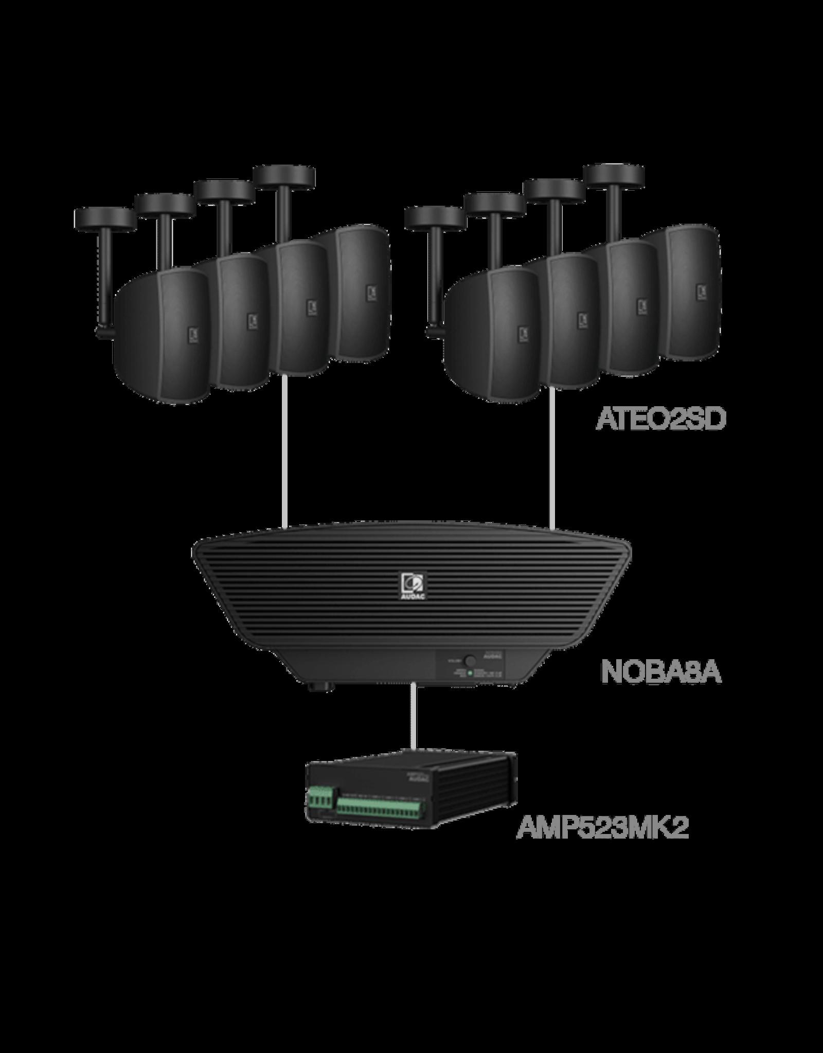 Audac 8x ATEO2SD + NOBA8A + AMP523MK2 Black