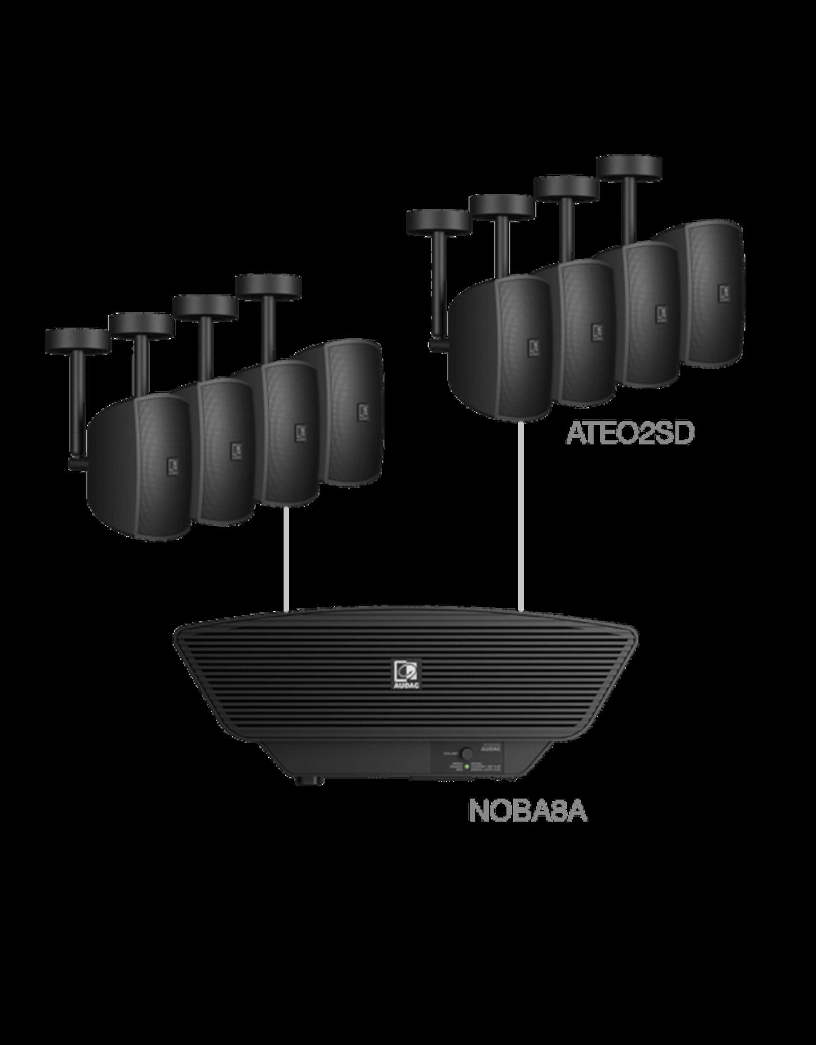 Audac 8x ATEO2SD + NOBA8A Black