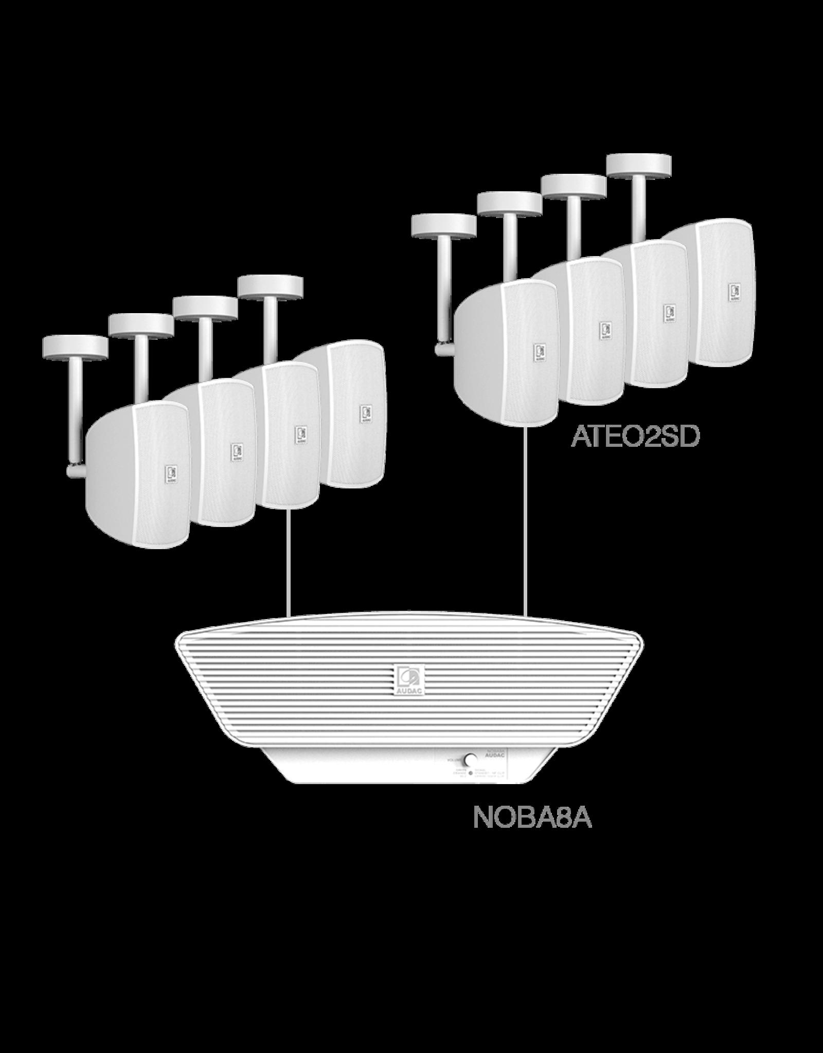 Audac 8x ATEO2SD + NOBA8A White