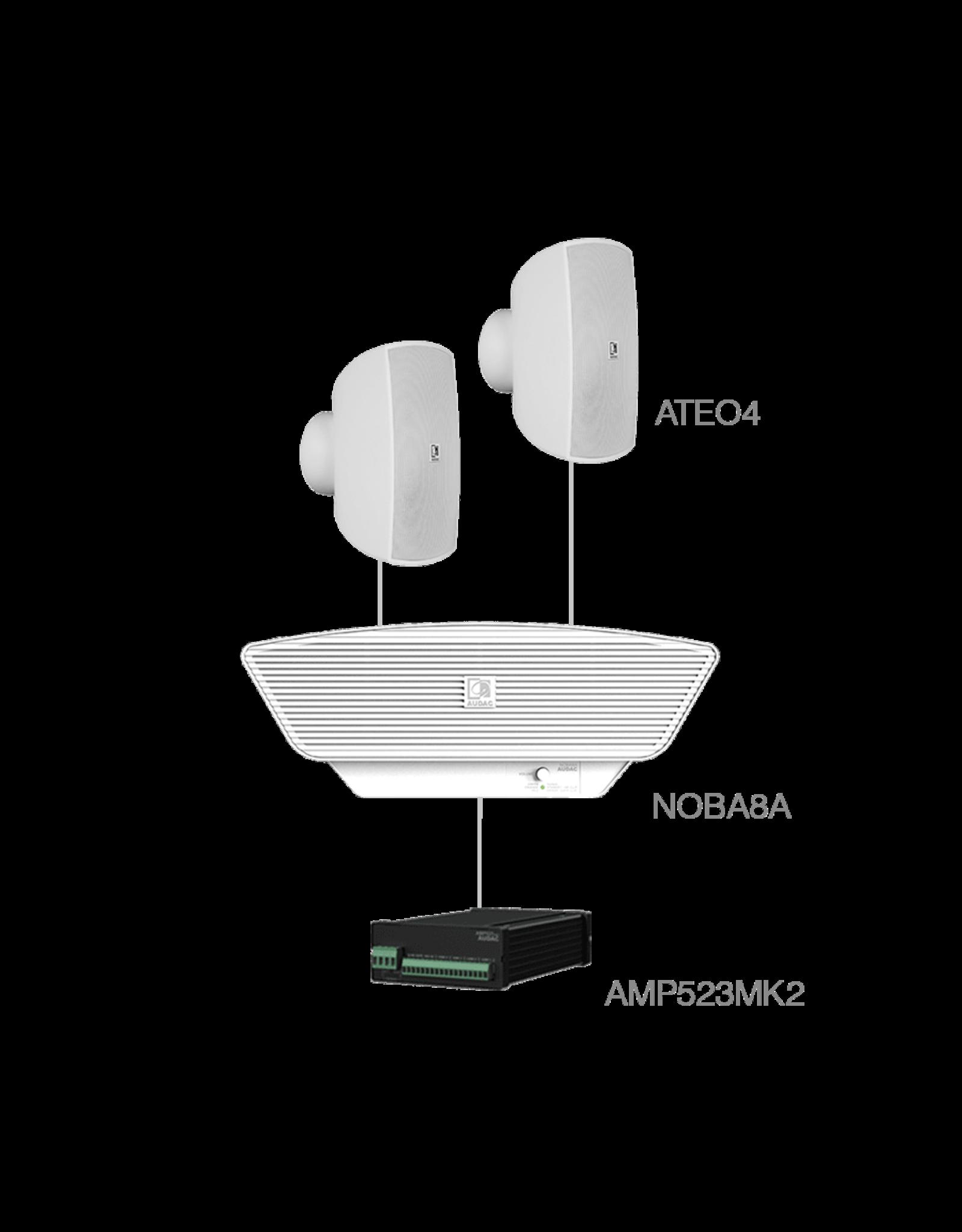 Audac 2 x ATEO4 + NOBA8A + AMP523MK2 White