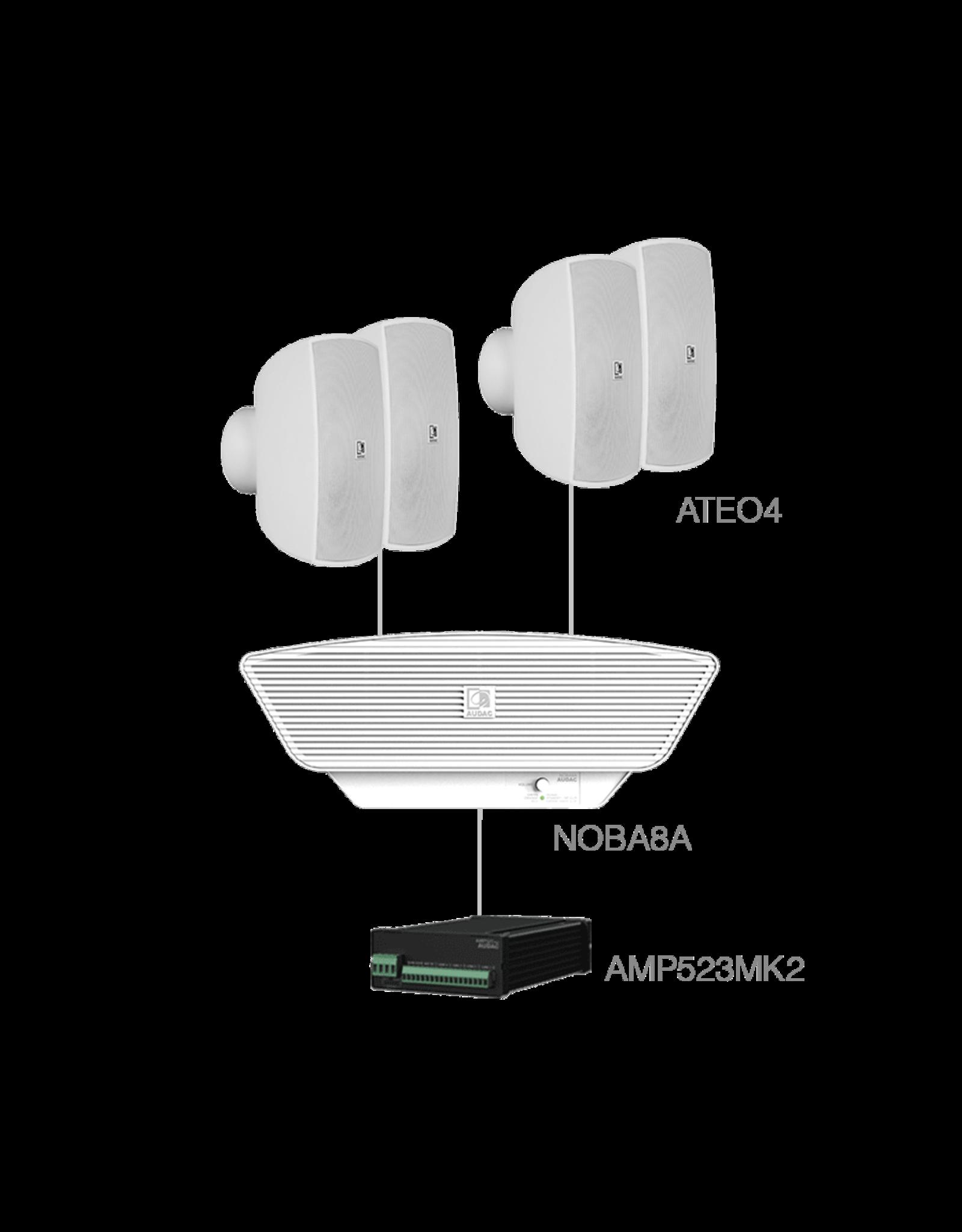 Audac 4x ATEO4  + NOBA8A +AMP523MK2 White