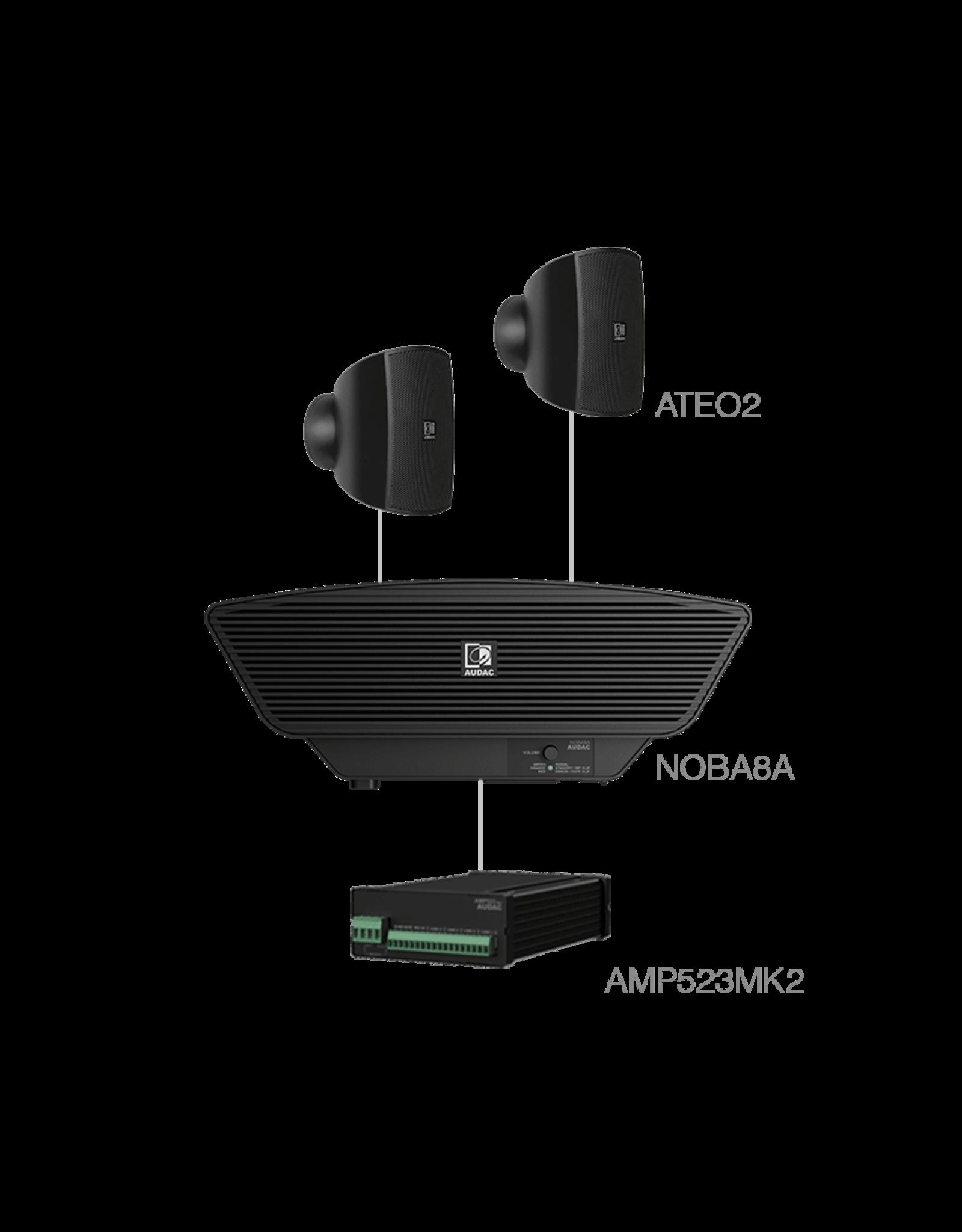 Audac 2x ATEO2 + NOBA8A + AMP523MK2 Black
