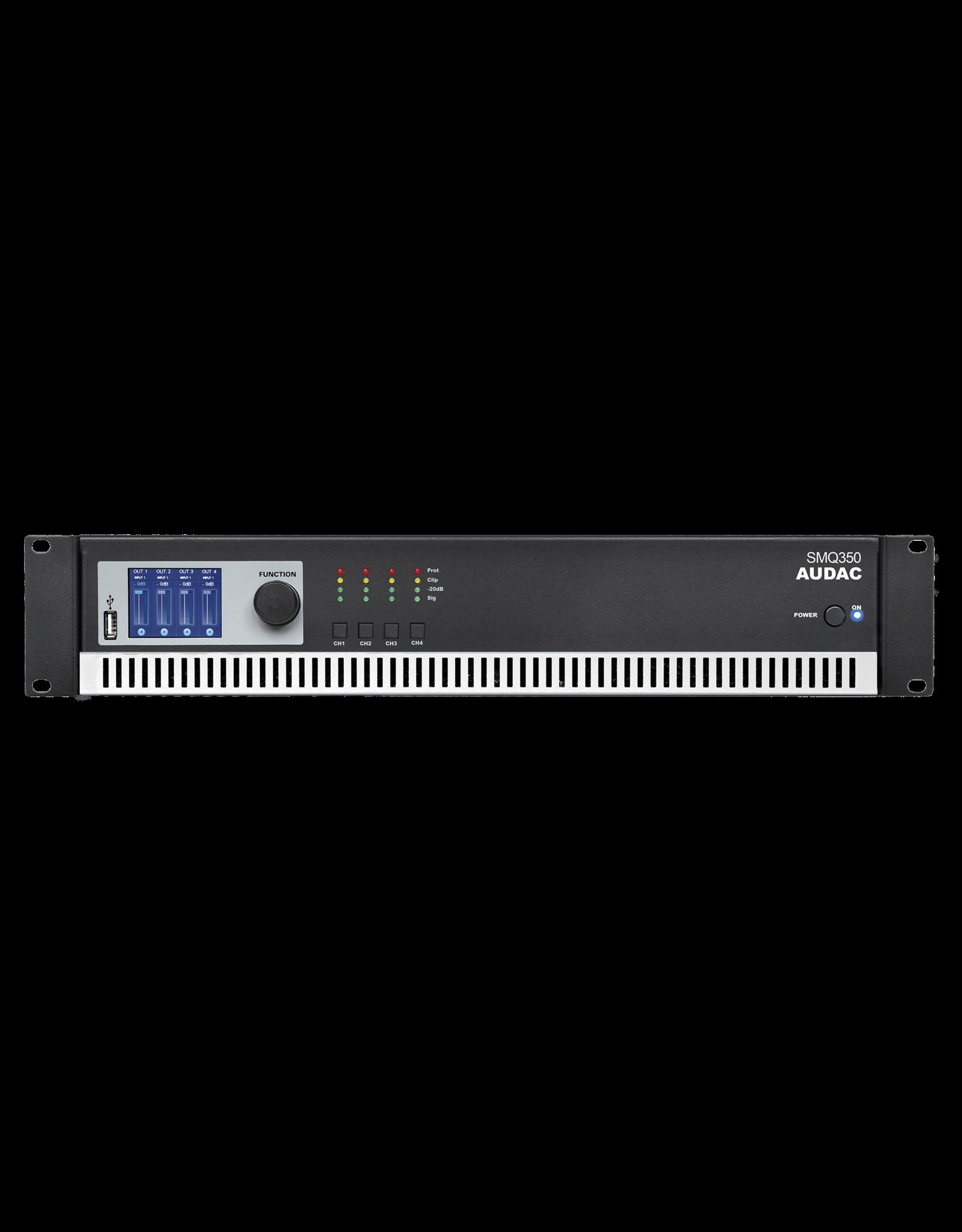 Audac WaveDynamics™ quad-channel power amplifier 4 x 350W
