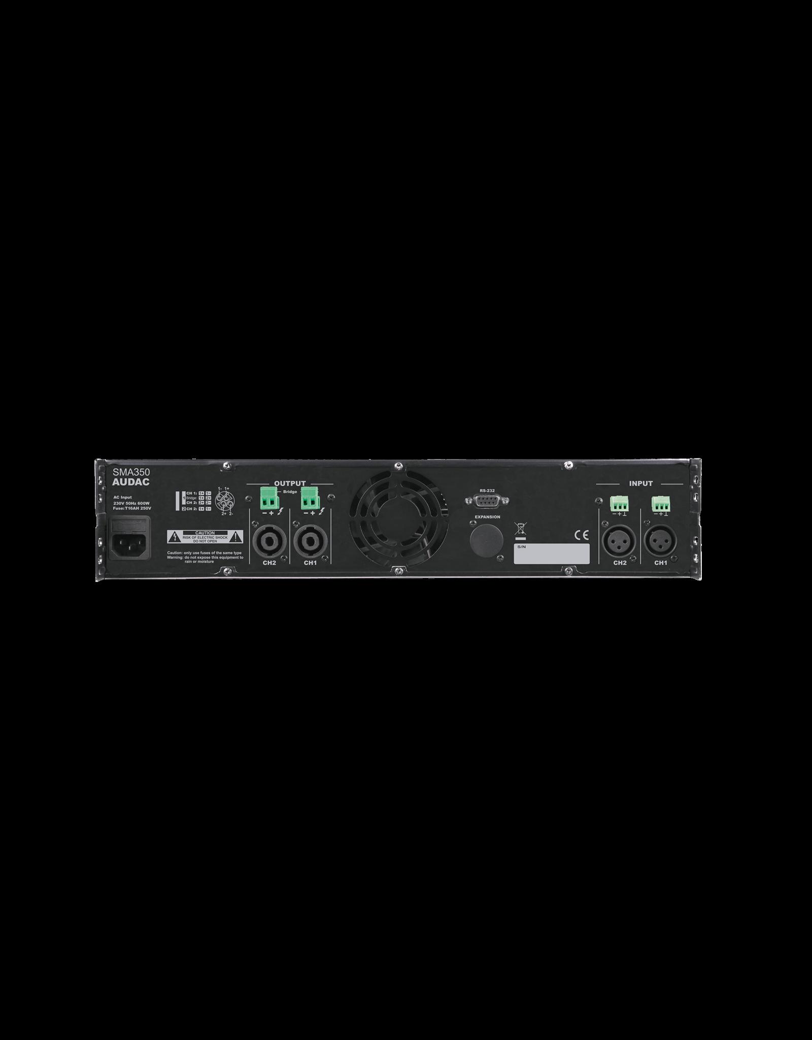 Audac WaveDynamics™ dual-channel power amplifier 2 x 350W
