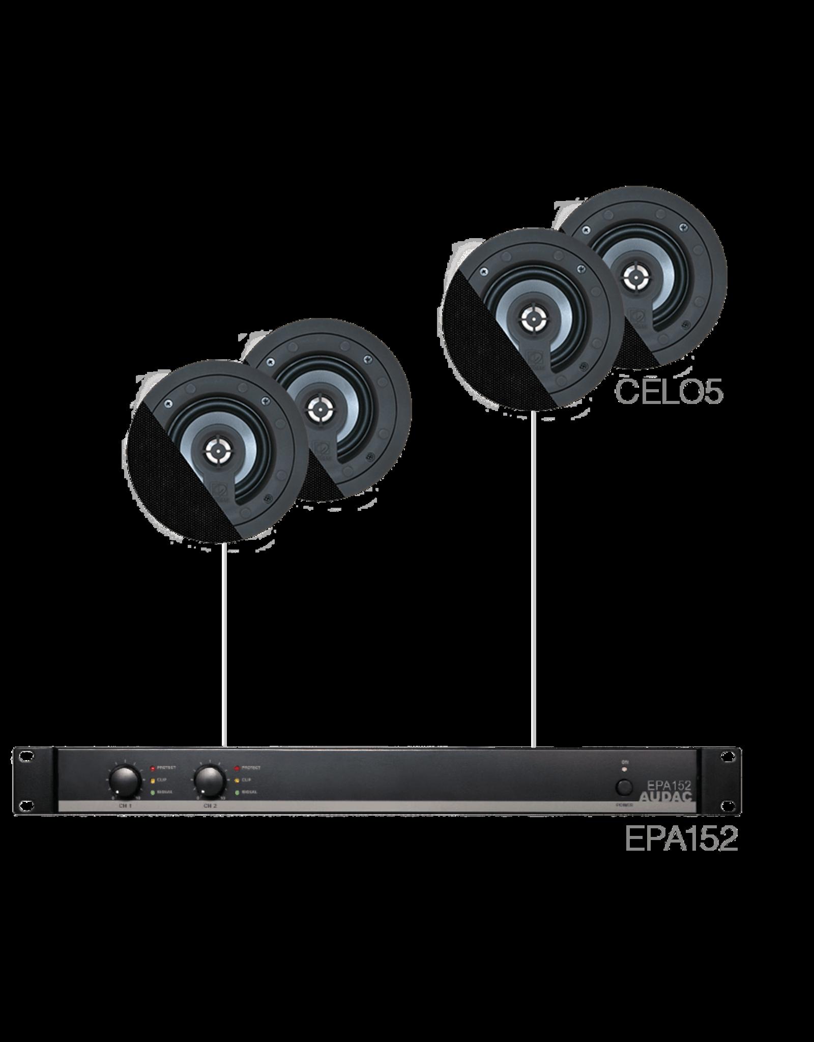 Audac 4 x CELO5 + EPA152 Black