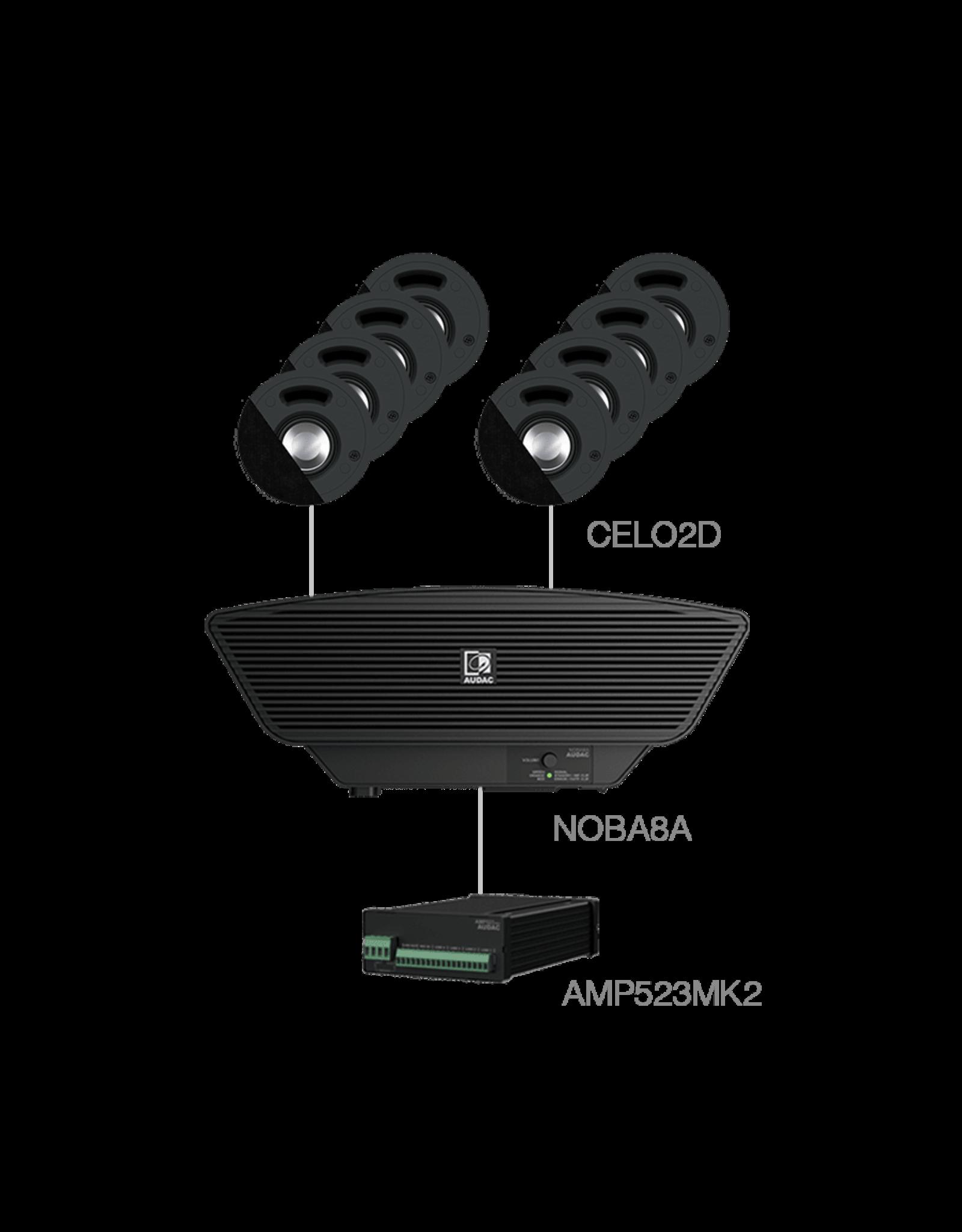 Audac 8x CELO2D + NOBA8A + AMP523MK2 Black