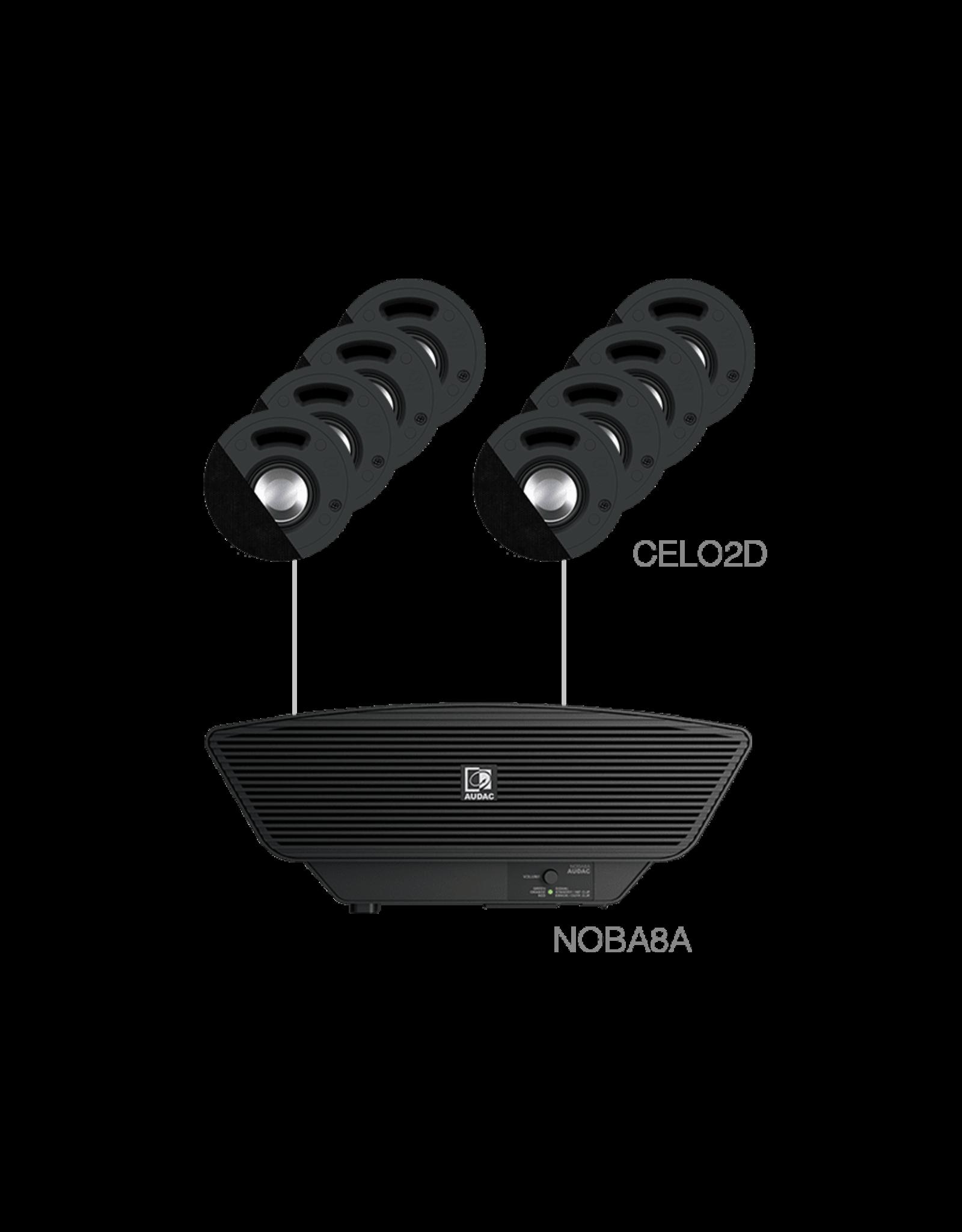 Audac 8x CELO2D + NOBA8A + AMP523MK Black