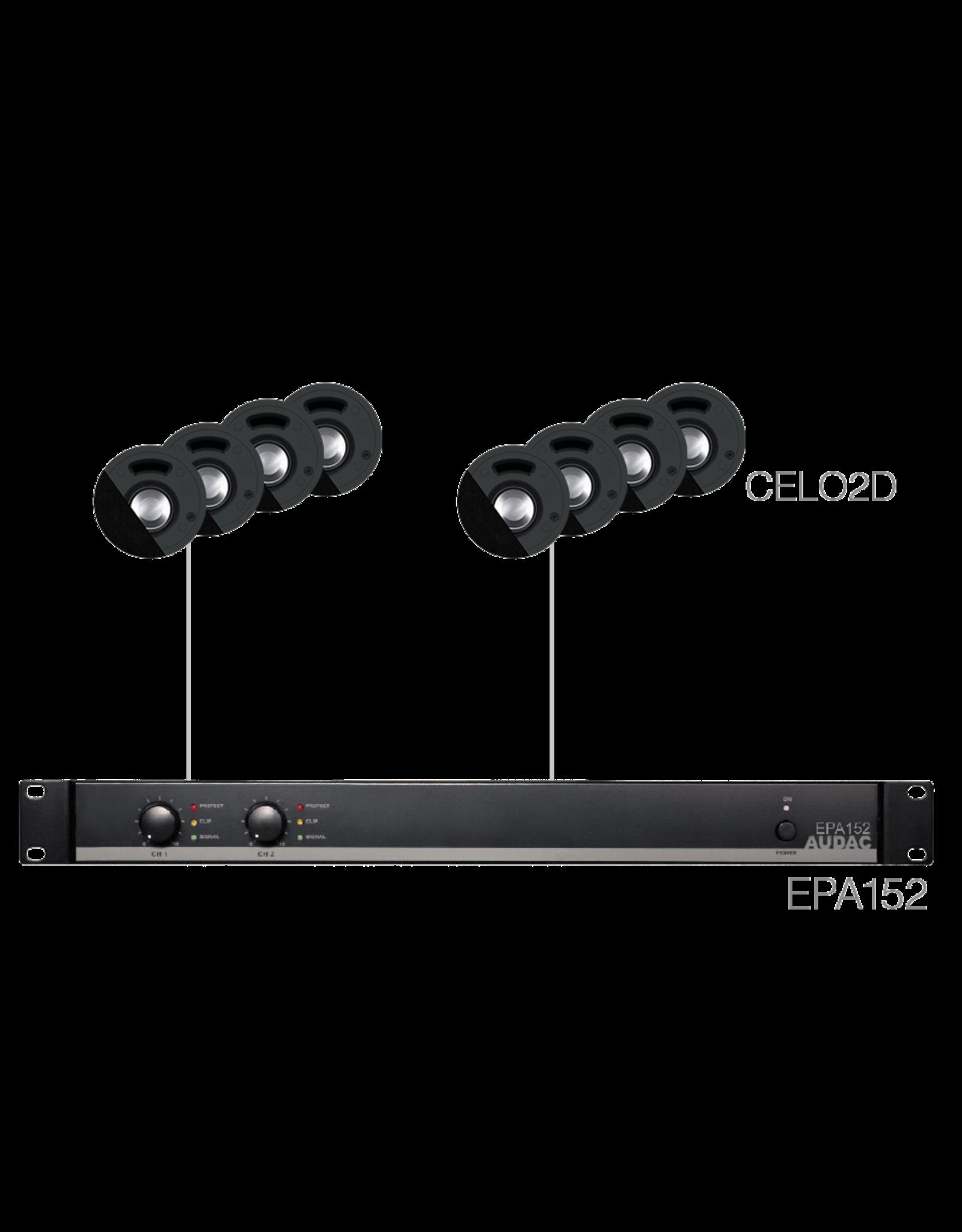 Audac 8 x CELO2D + EPA152 Black